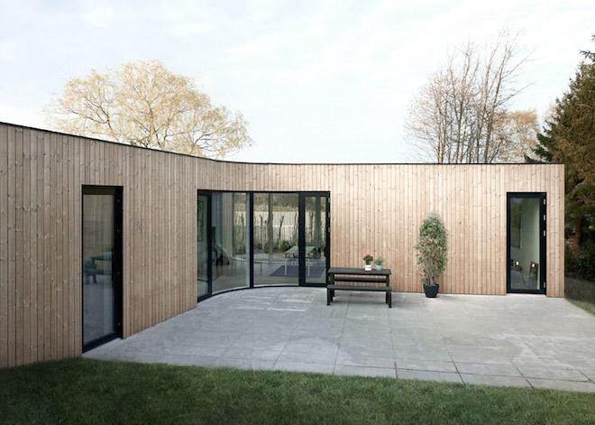 """All photos by EFFEKT via <a href=""""http://www.dezeen.com/2015/07/22/effekt-villa-one-low-cost-copenhagen-house-timber-clad/"""">Dezeen</a>"""