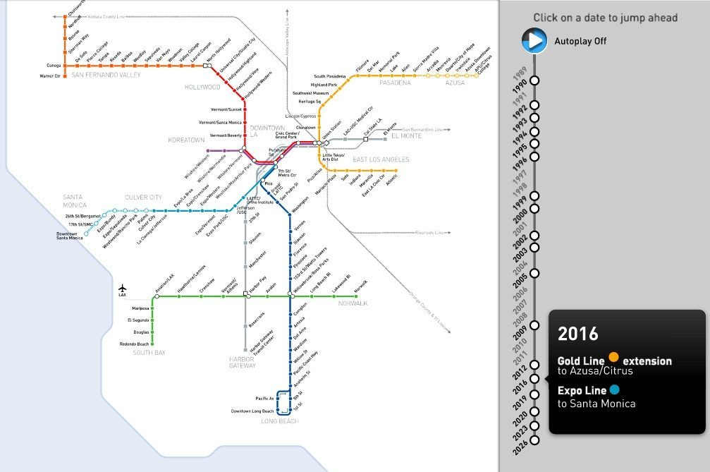 Los Angeles Subway Map 2016.Light Rail Curbed La