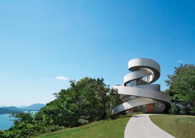 "Ribbon Chapel by Hiroshi Nakamura. Photo via <a href=""http://www.dezeen.com/2015/06/22/world-building-of-the-year-waf-2015-shortlist/"">Dezeen</a>"