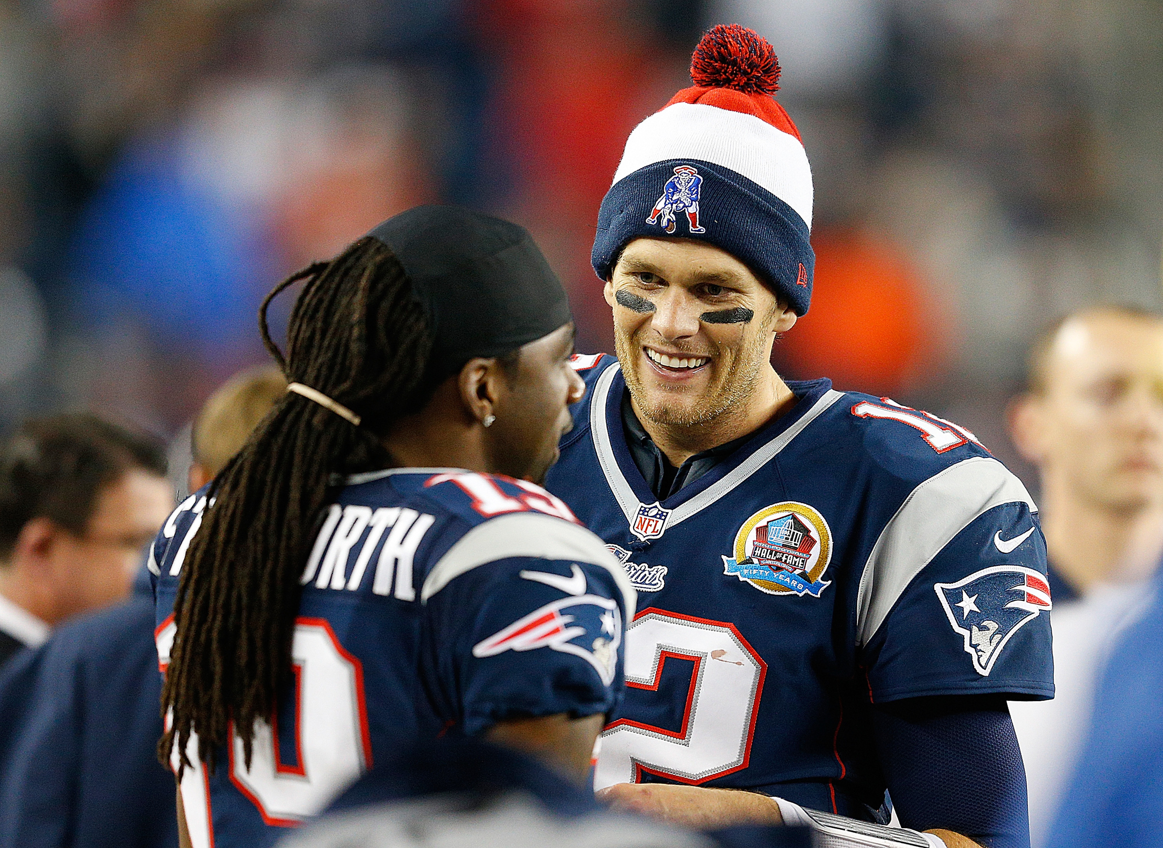 Donte Stallworth, Tom Brady, and the Pats are the new team to beat.
