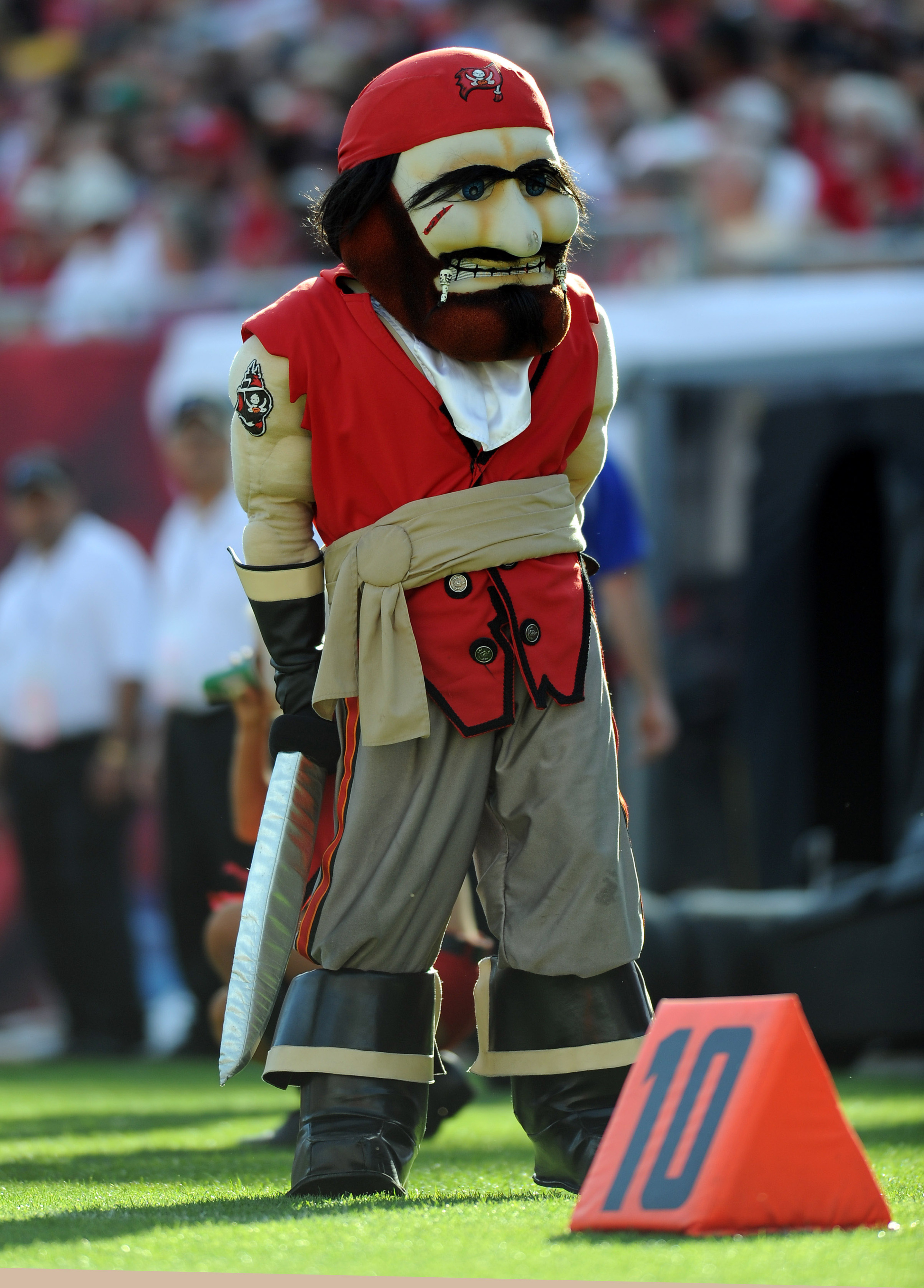 Even the mascot was depressed on Sunday