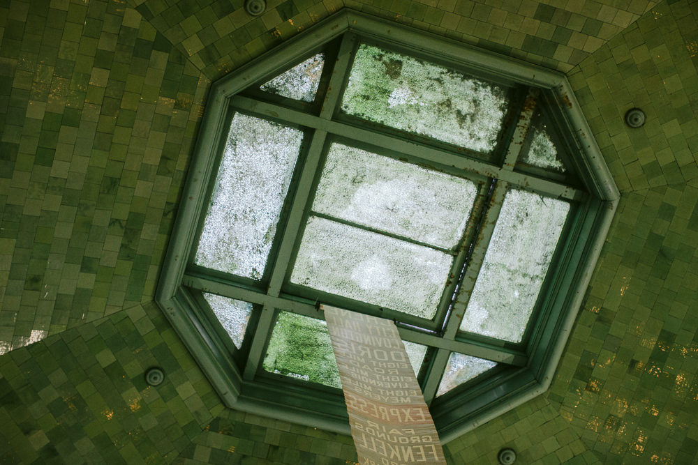 The dome skylight pre-rehab [Chris and Michelle Gerard]