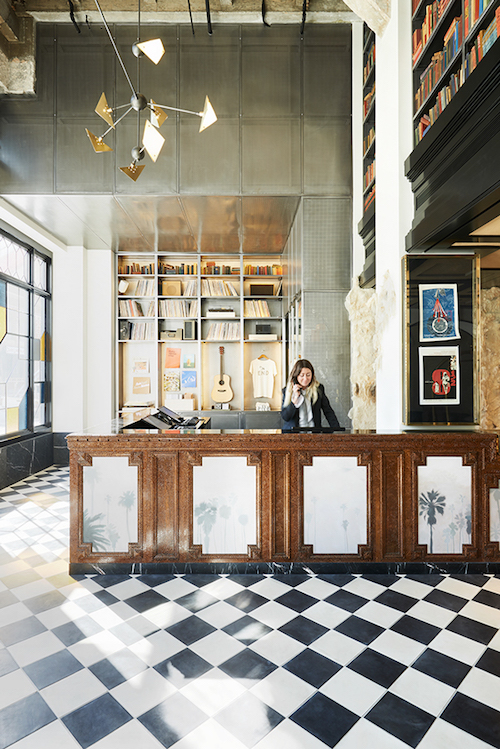 Ace Hotel renovation in downtown Los Angeles, California (2014) by Commune, a National Design Award Winner for Interior Design. All photos via Cooper Hewitt