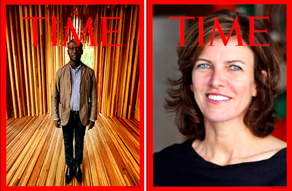 Sadly, neither David Adjaye nor Jeanne Gang made this year's TIME 100 list. All photo mockups by Curbed Staff