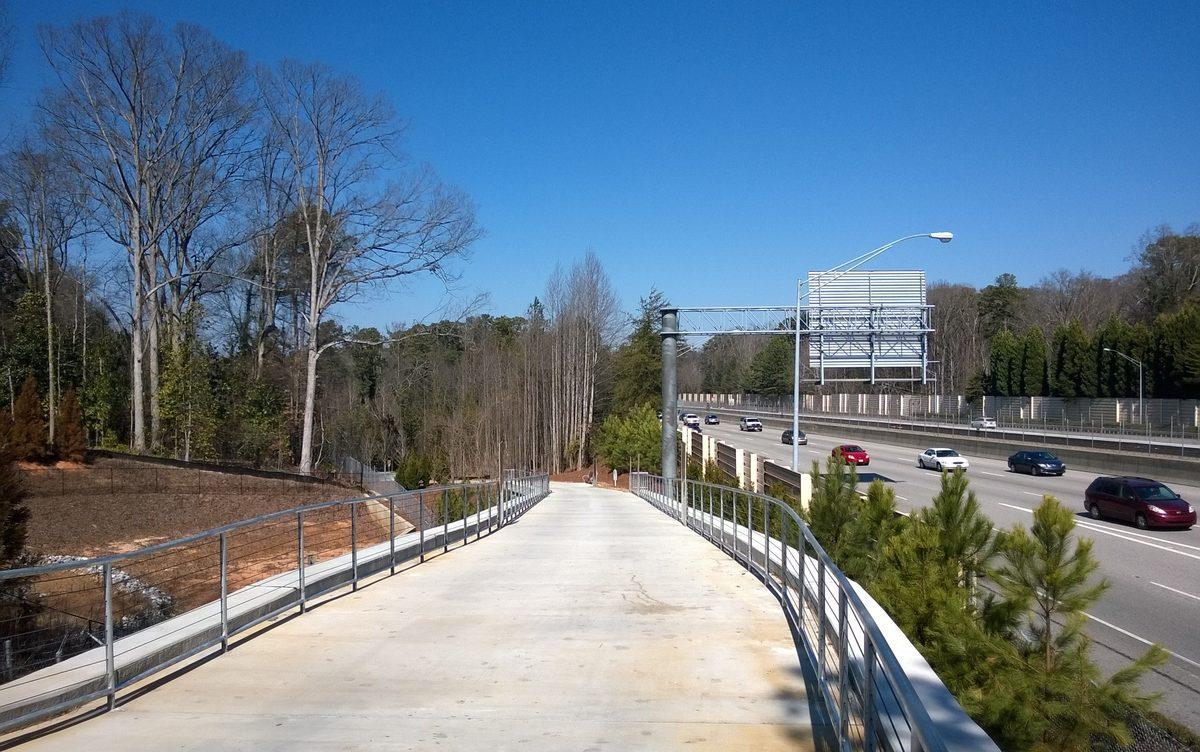 [PATH400 was vacant but pretty on an idyllic Saturday. Photos: Curbed Atlanta]