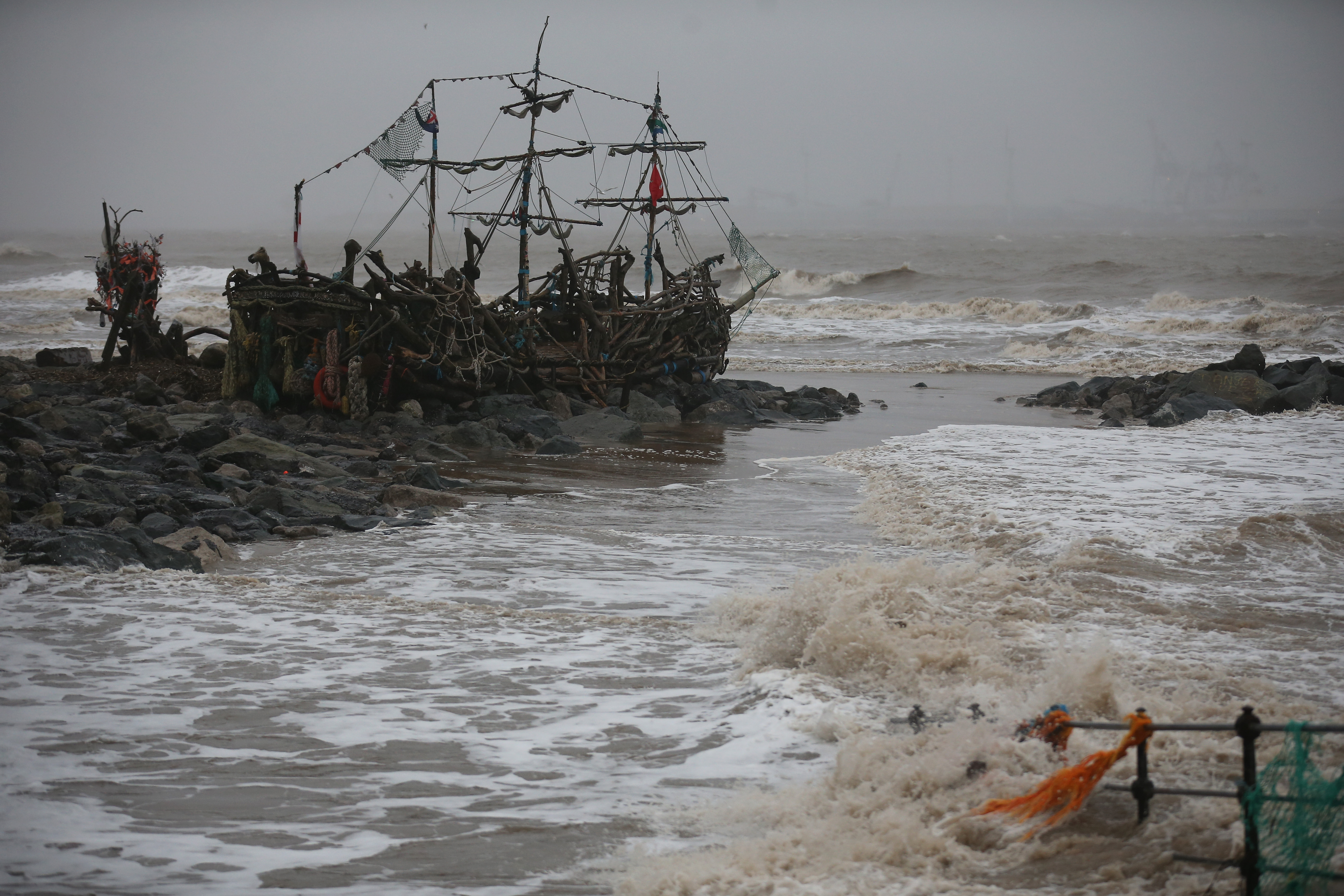Live view of College Station. The pirates have taken Olsen and are making plans to dock in Spence Lake.