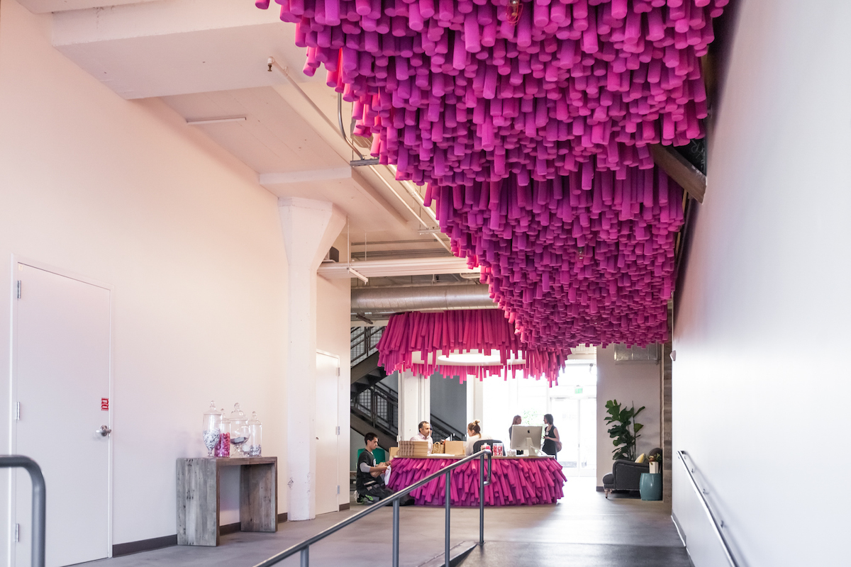 """Lyft moved into its Mission District headquarters in April, taking over former office space occupied by UCSF. Photos via <a href=""""http://www.patriciachangphotography.com/"""">Patricia Chang</a>"""