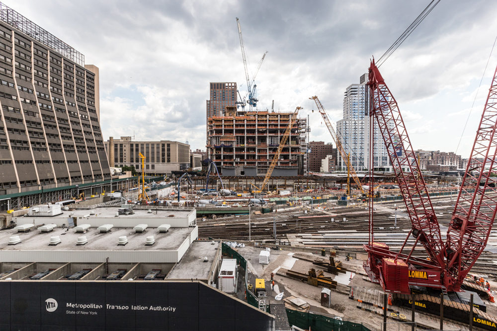 """Looking south over Hudson Yards. All photos by <a href=""""http://touheyphotography.com/"""">Max Touhey</a>."""