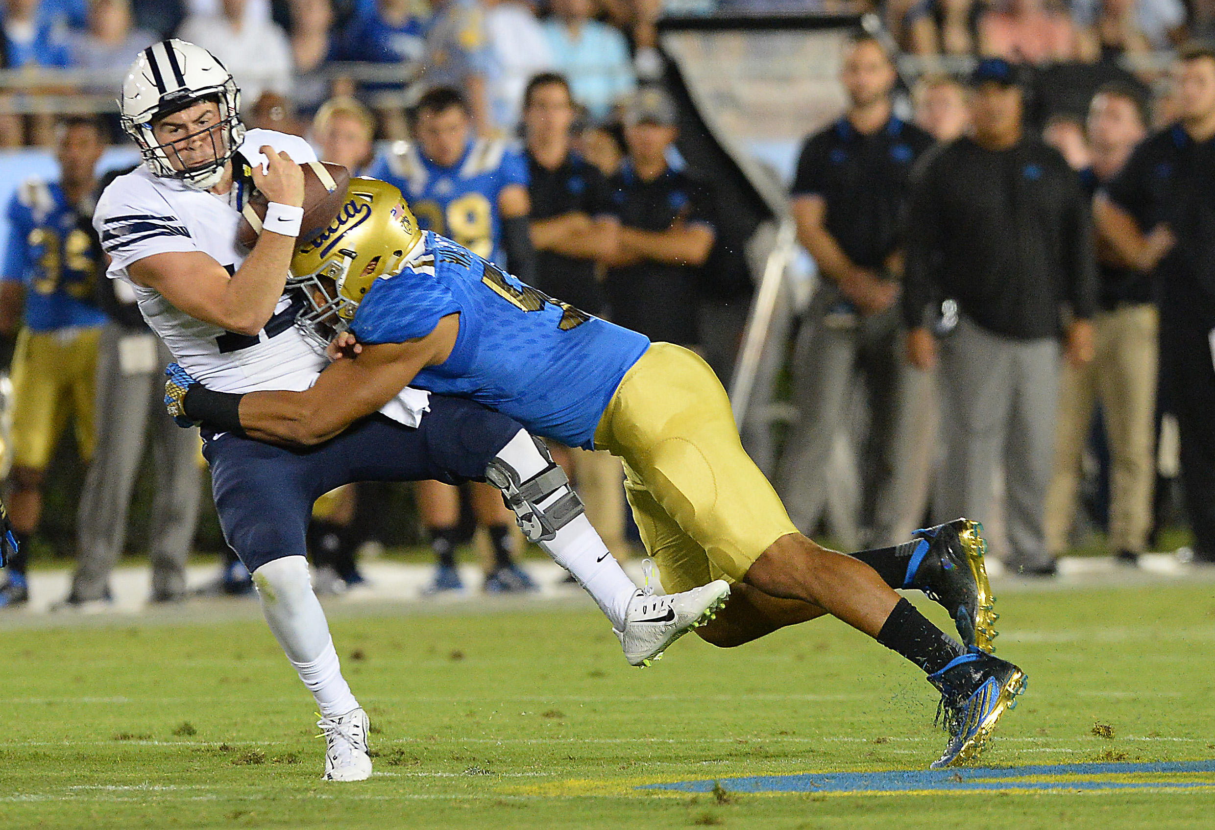 OLB Aaron Wallace led the Bruin defense in sacks this year.