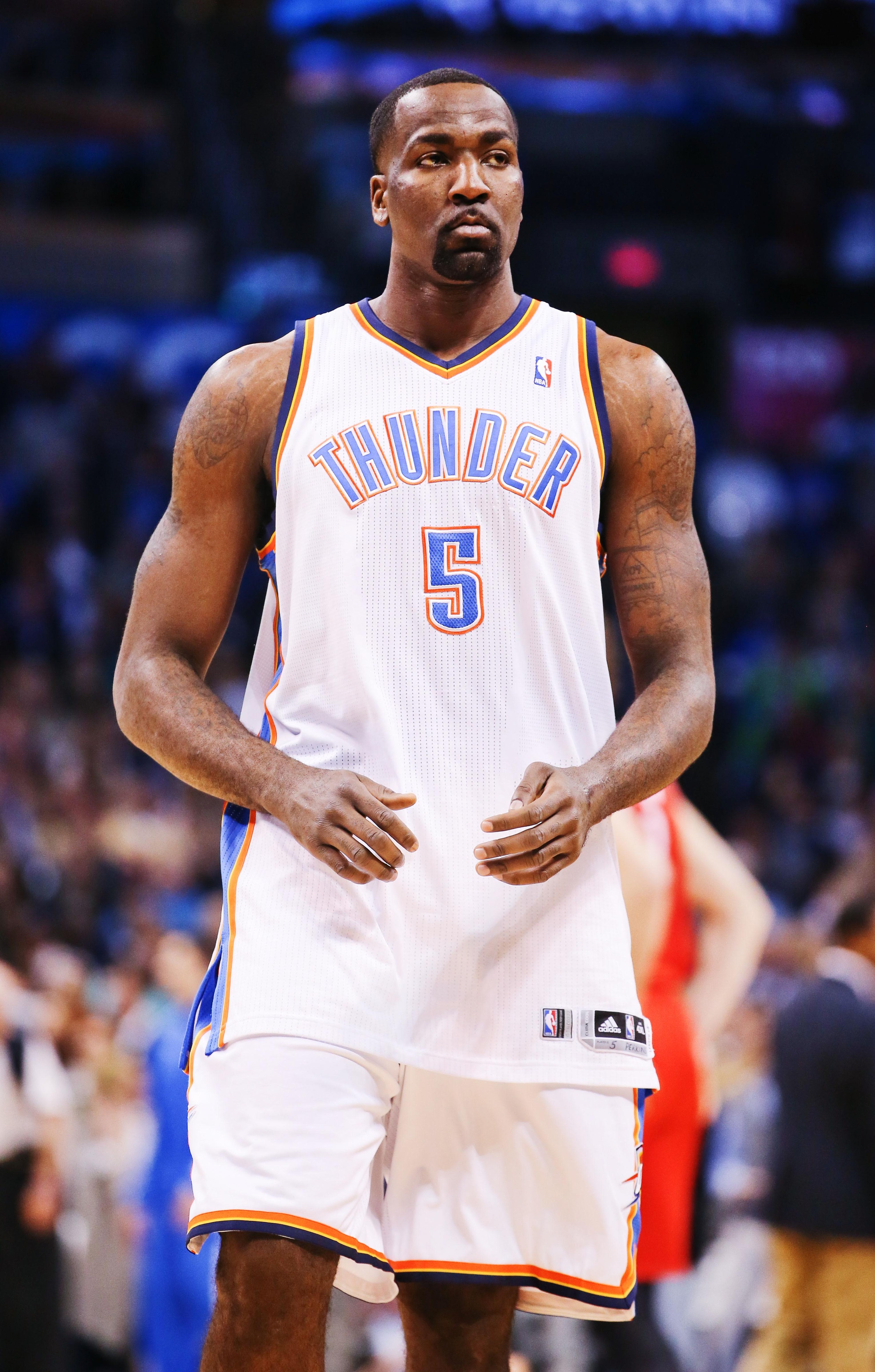 Kendrick Perkins wants to win, so he must be pretty happy with his team's play right now.