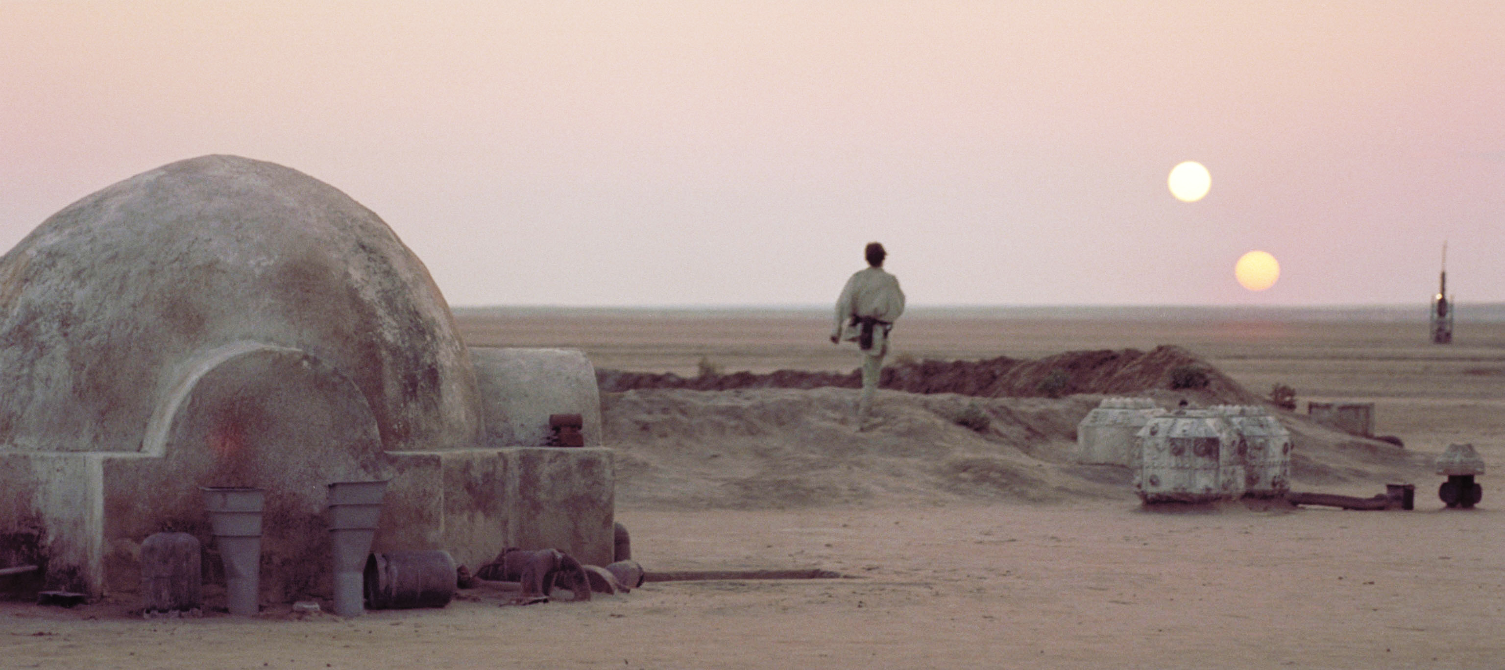 The two suns of Tatooine.