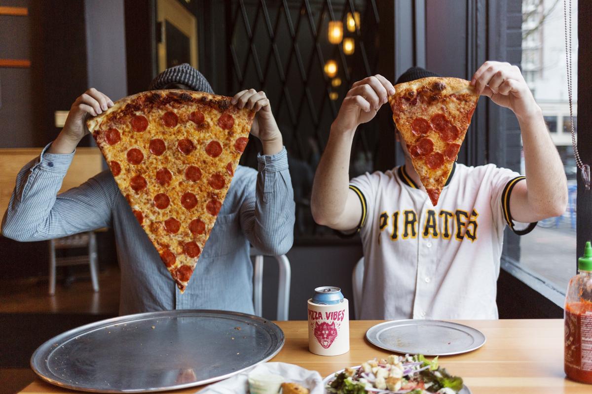 Comparing pizzas.