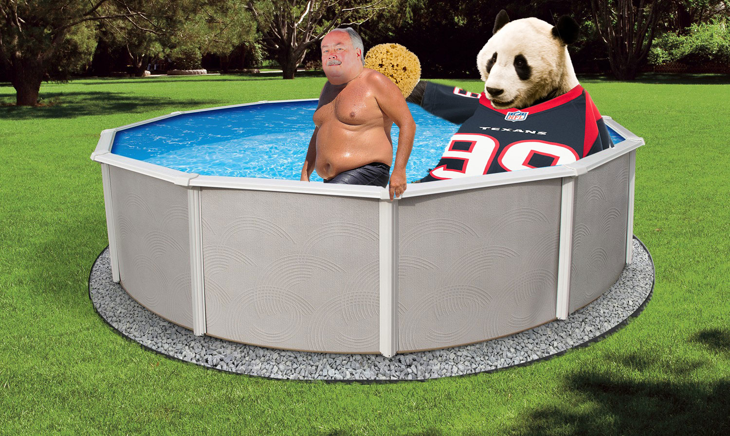 Going with Hoyer God Help us is currently enjoying his sponge bath from BFD!