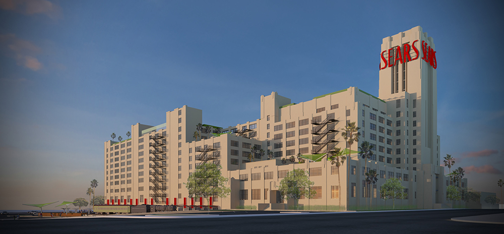 2014 renderings of the Boyle Heights Sears project