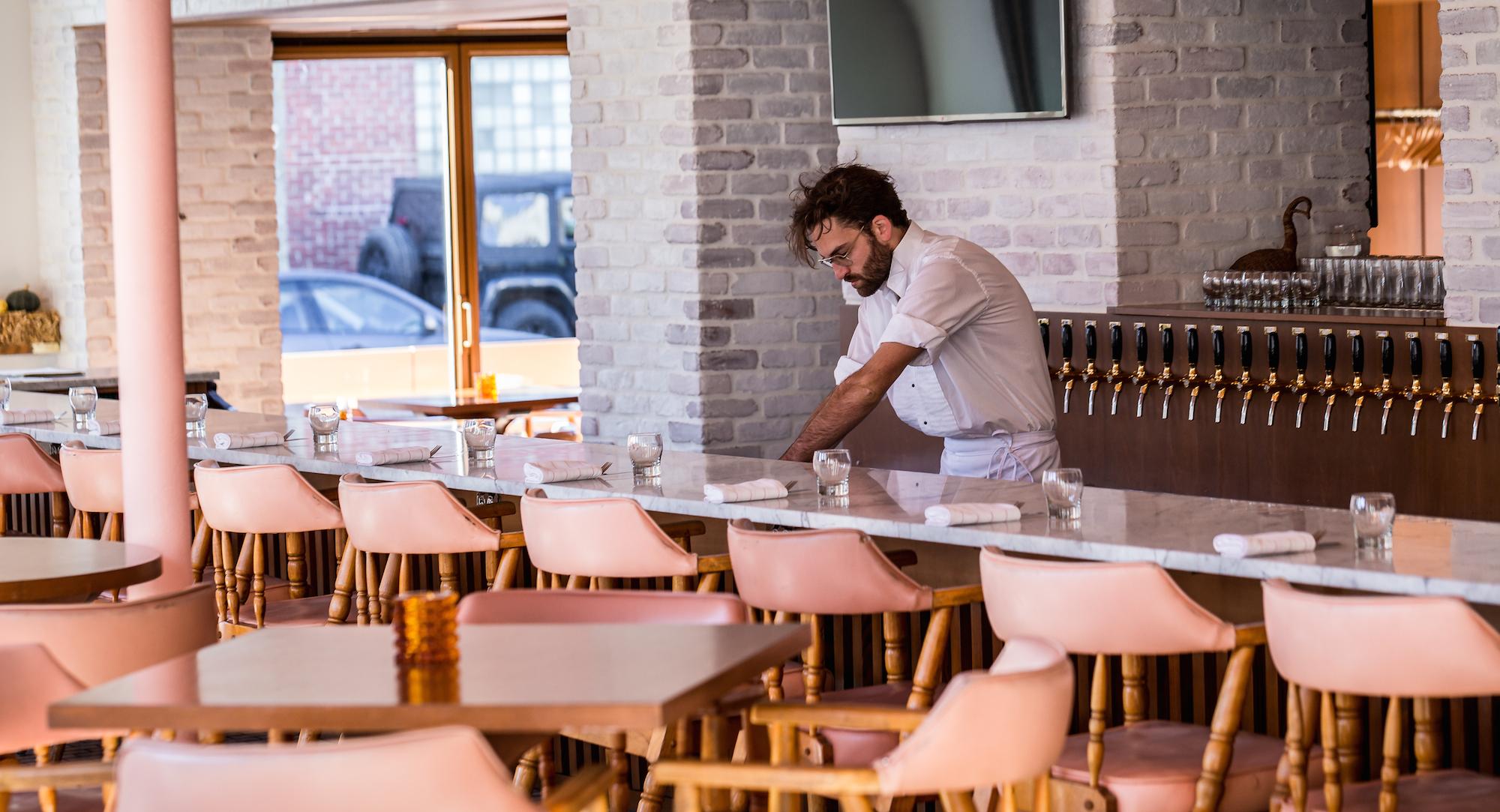 Inside Brasserie Harricana