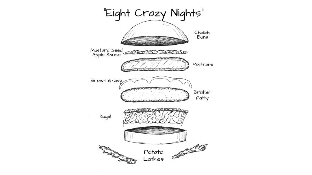 Swift's Attic's Eight Crazy Nights burger