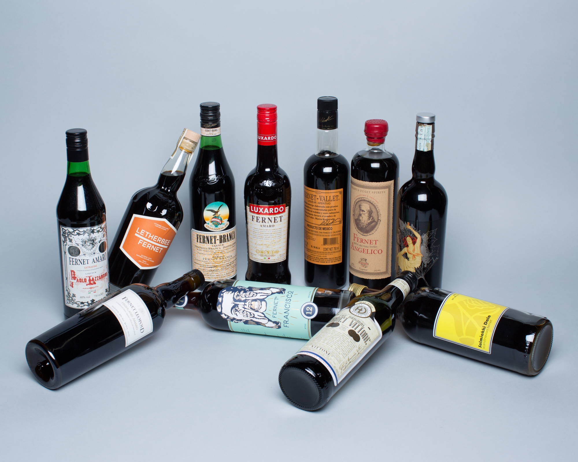 Assorted Fernets from around the world.