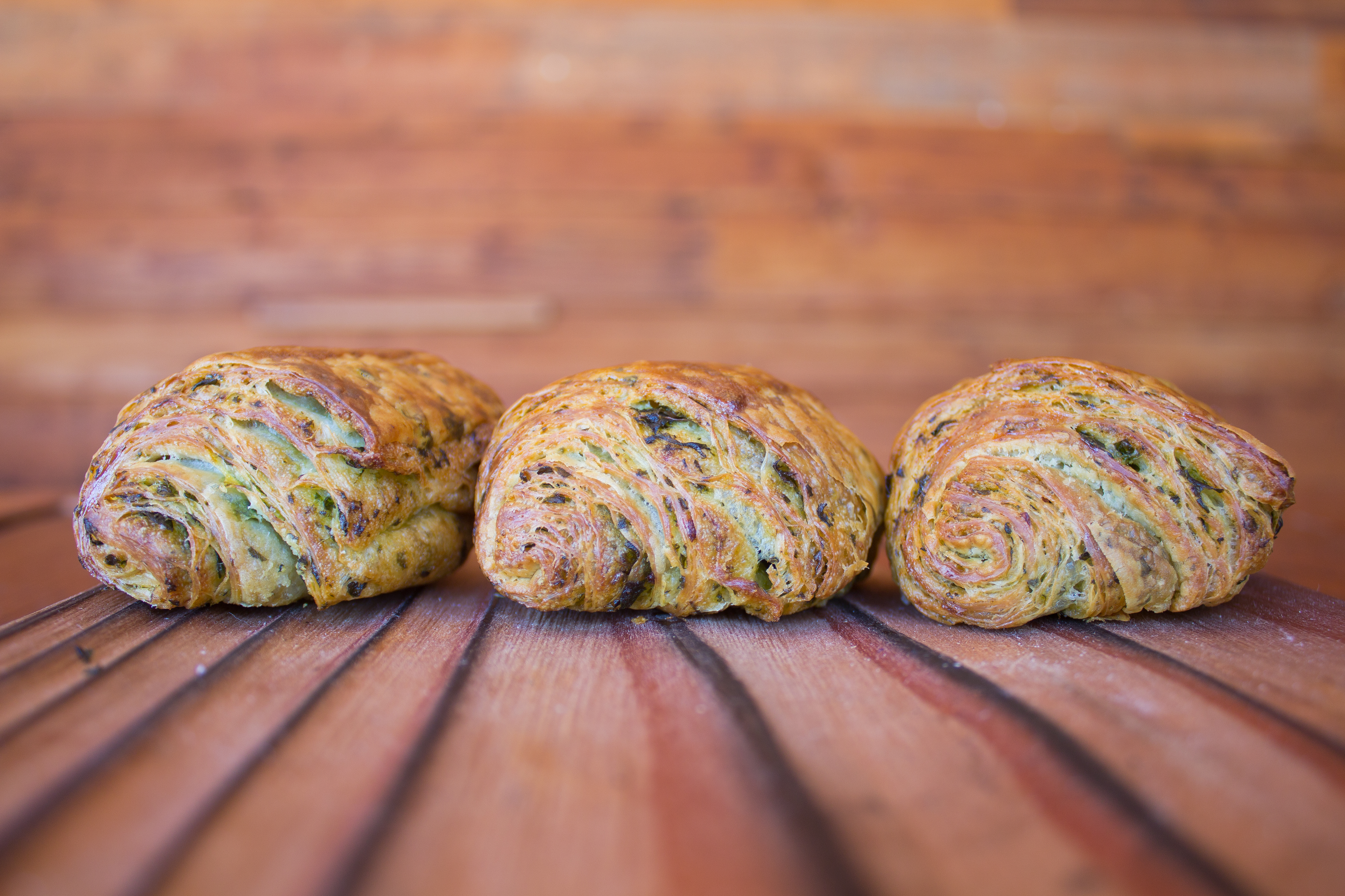 Barley Swine's new parsley crossiants