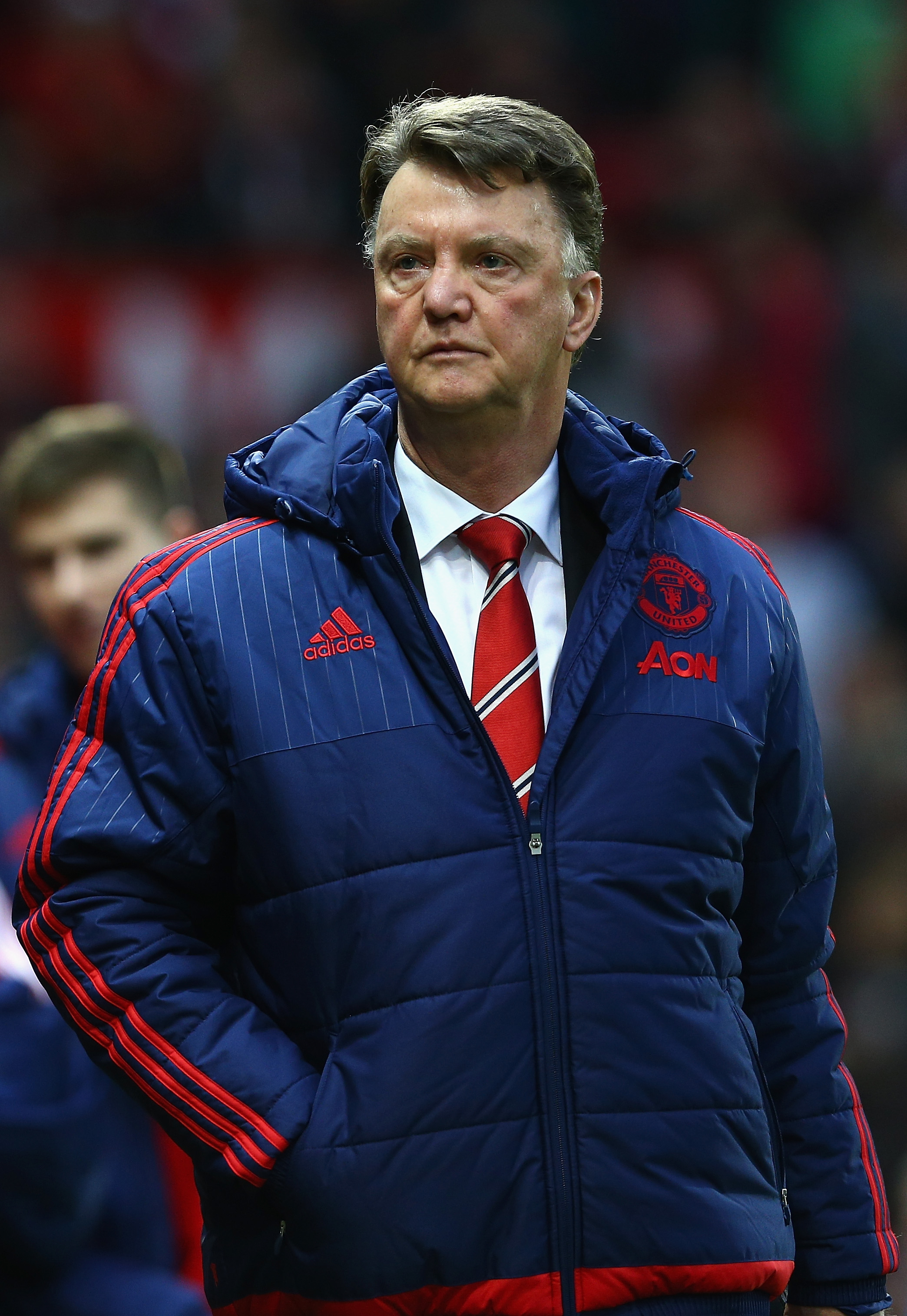Louis van Gaal walks out of Manchester United press conference as sacking rumours persist
