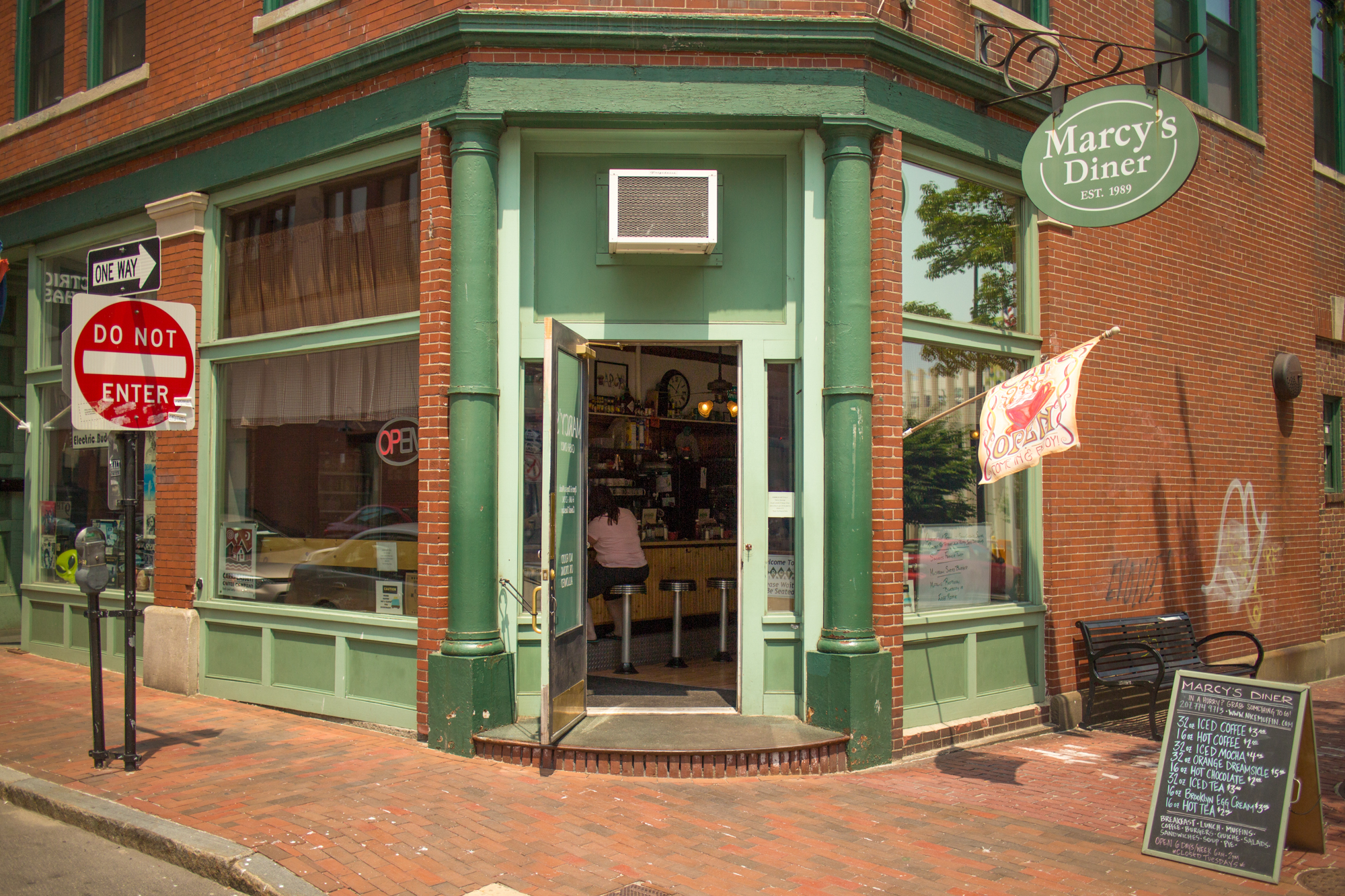 When she lost her cool with a difficult customer this summer, the owner of Marcy's Diner in Portland sparked a controversy that was heard round the world.