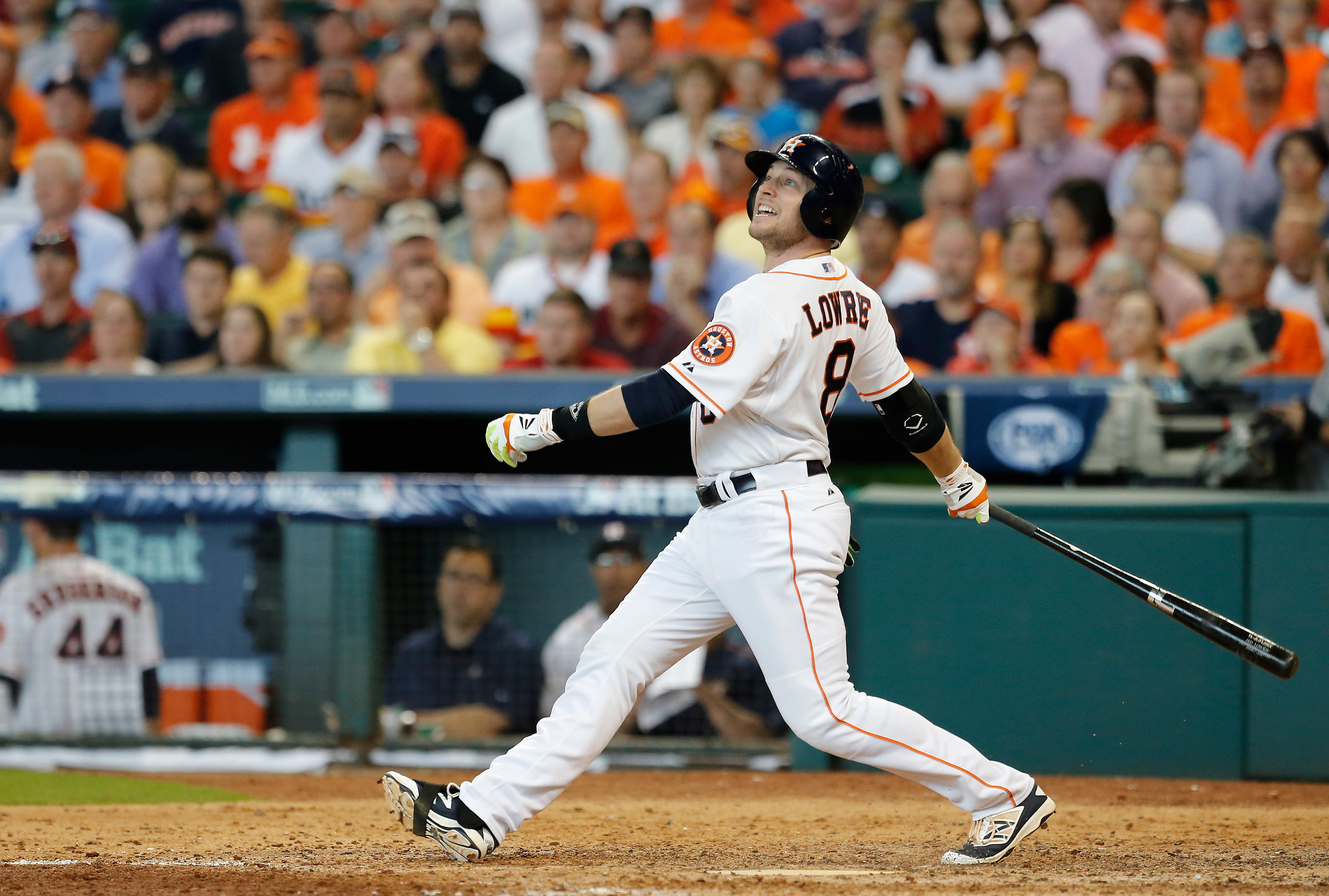 Jed Lowrie, batting for the Houston Astros in the 2015 ALDS.