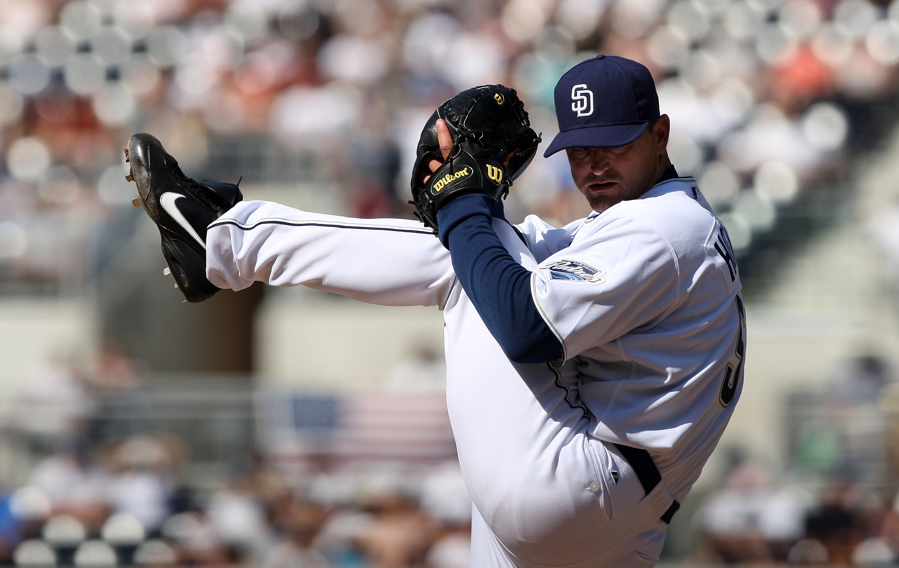The high leg kick of Trevor Hoffman was as intimidating as his stare
