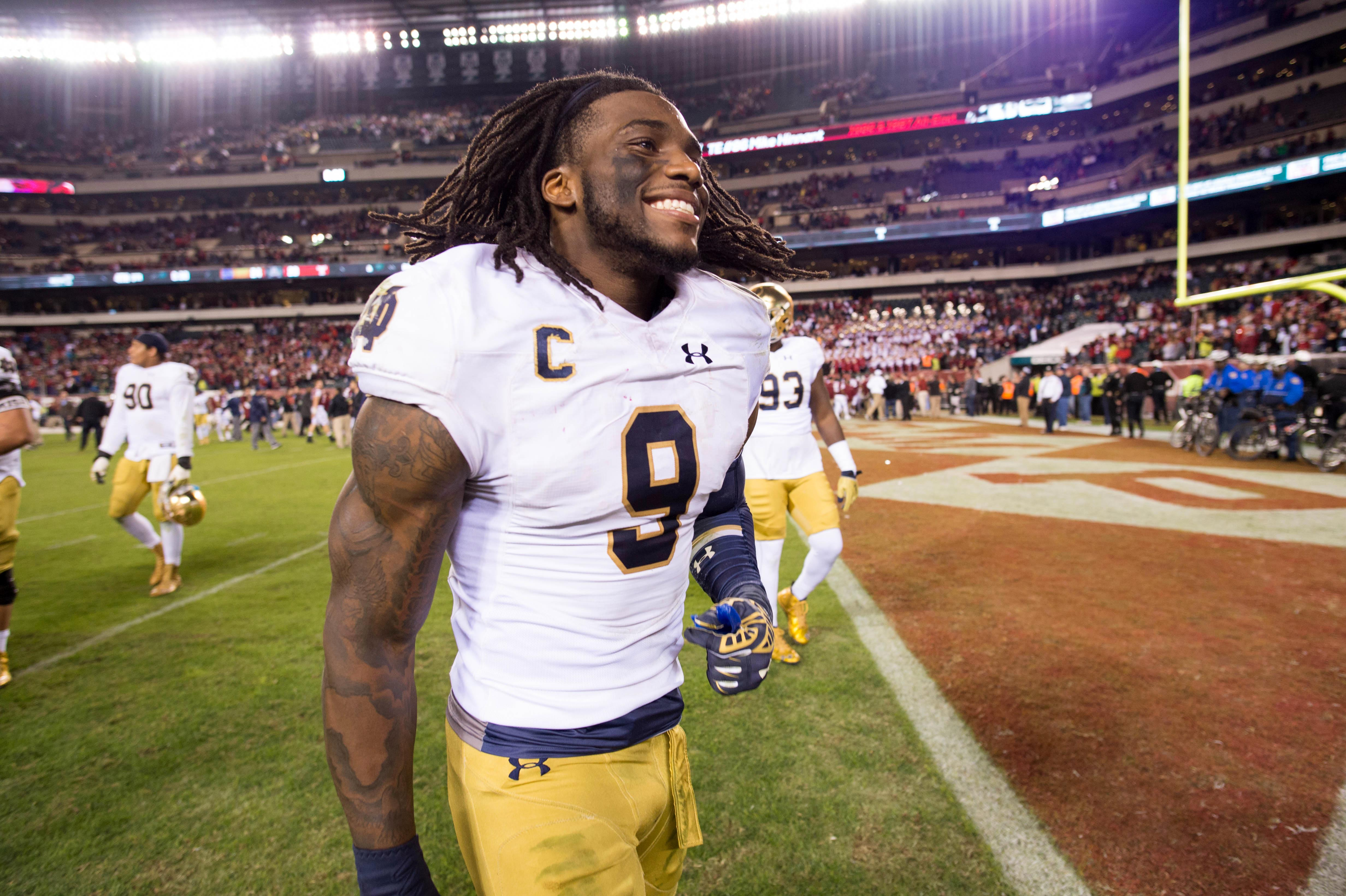 Notre Dame's Jaylon Smith is one of the top prospects to watch today.