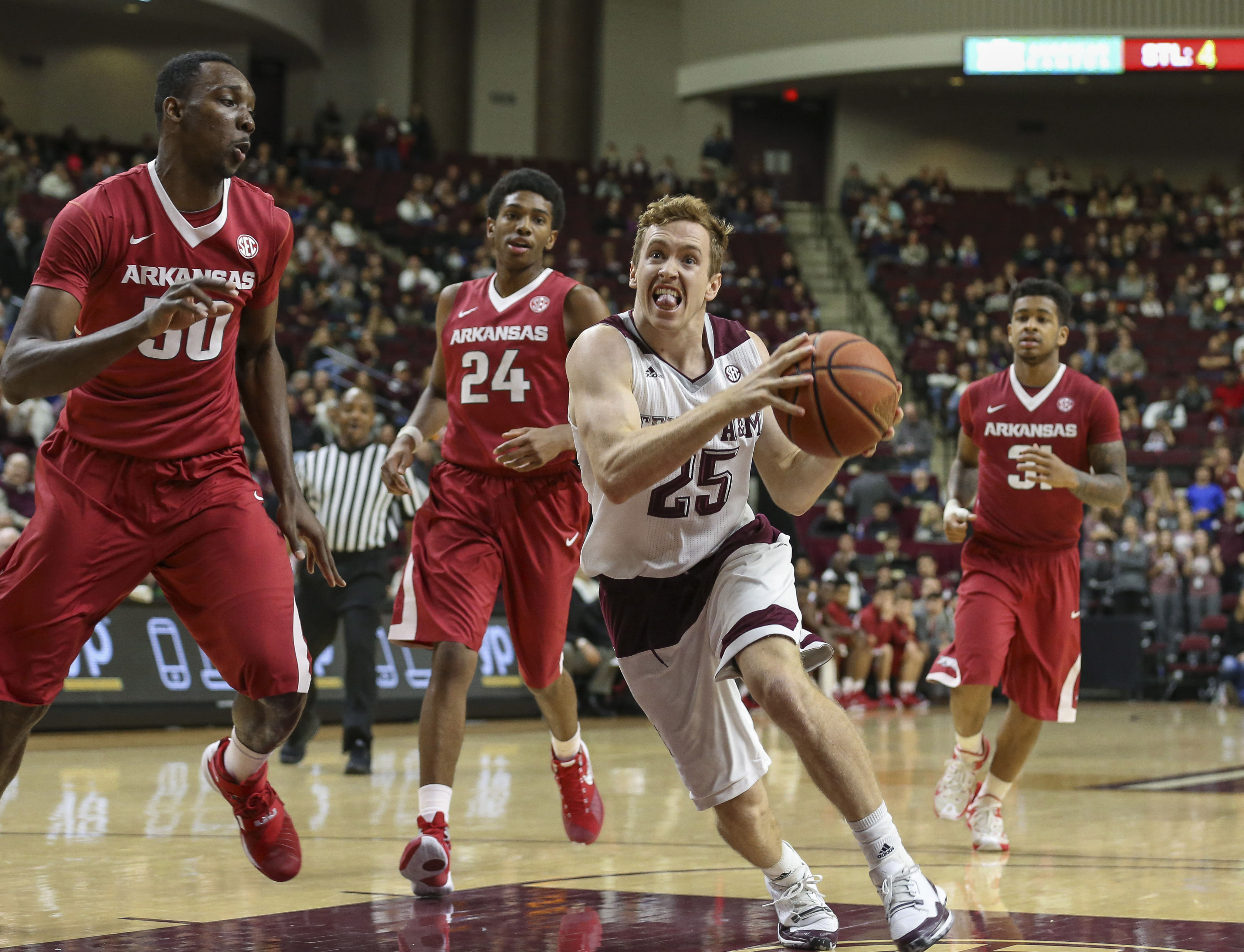 Kyle Drobbins' spirit is what powers the Aggie Basketball team.