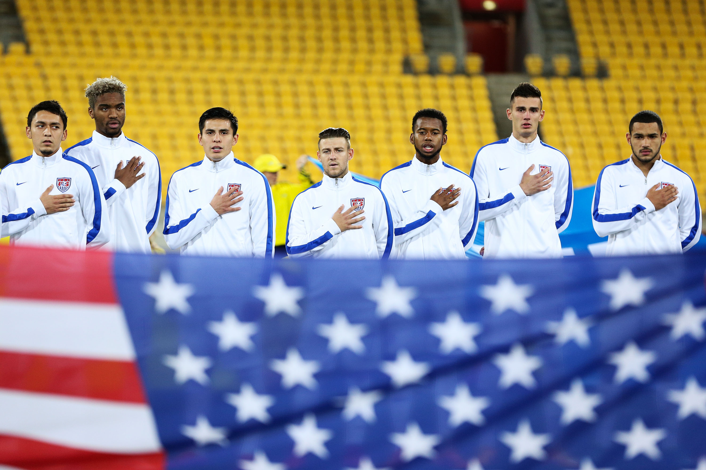 The U.S. U-20 team during the 2015 U-20 World Cup