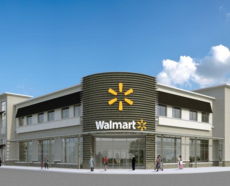 A rendering of Walmart in Midtown Miami