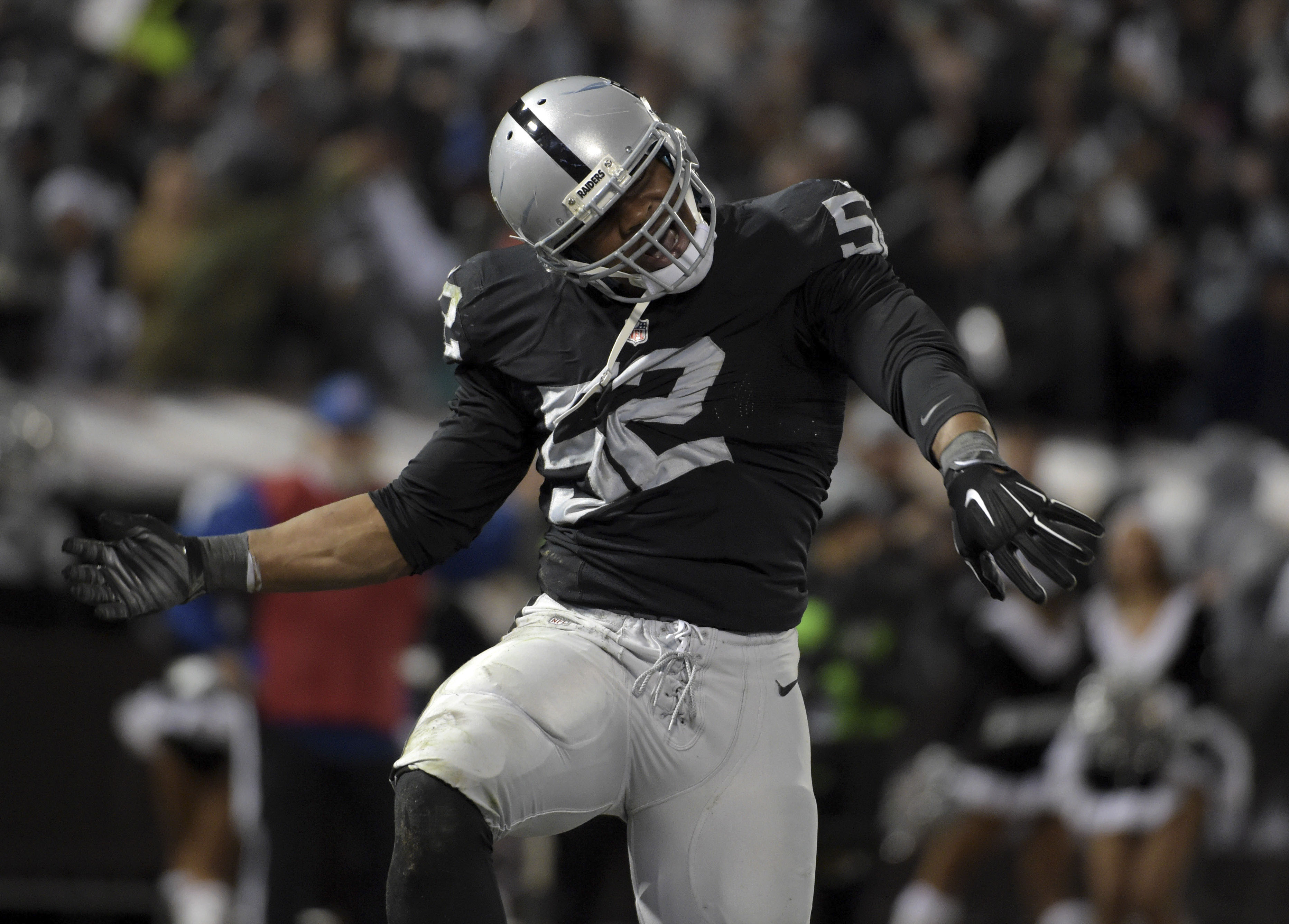 Khalil Mack is the 1st player to be a 1st-team All-Pro at 2 positions