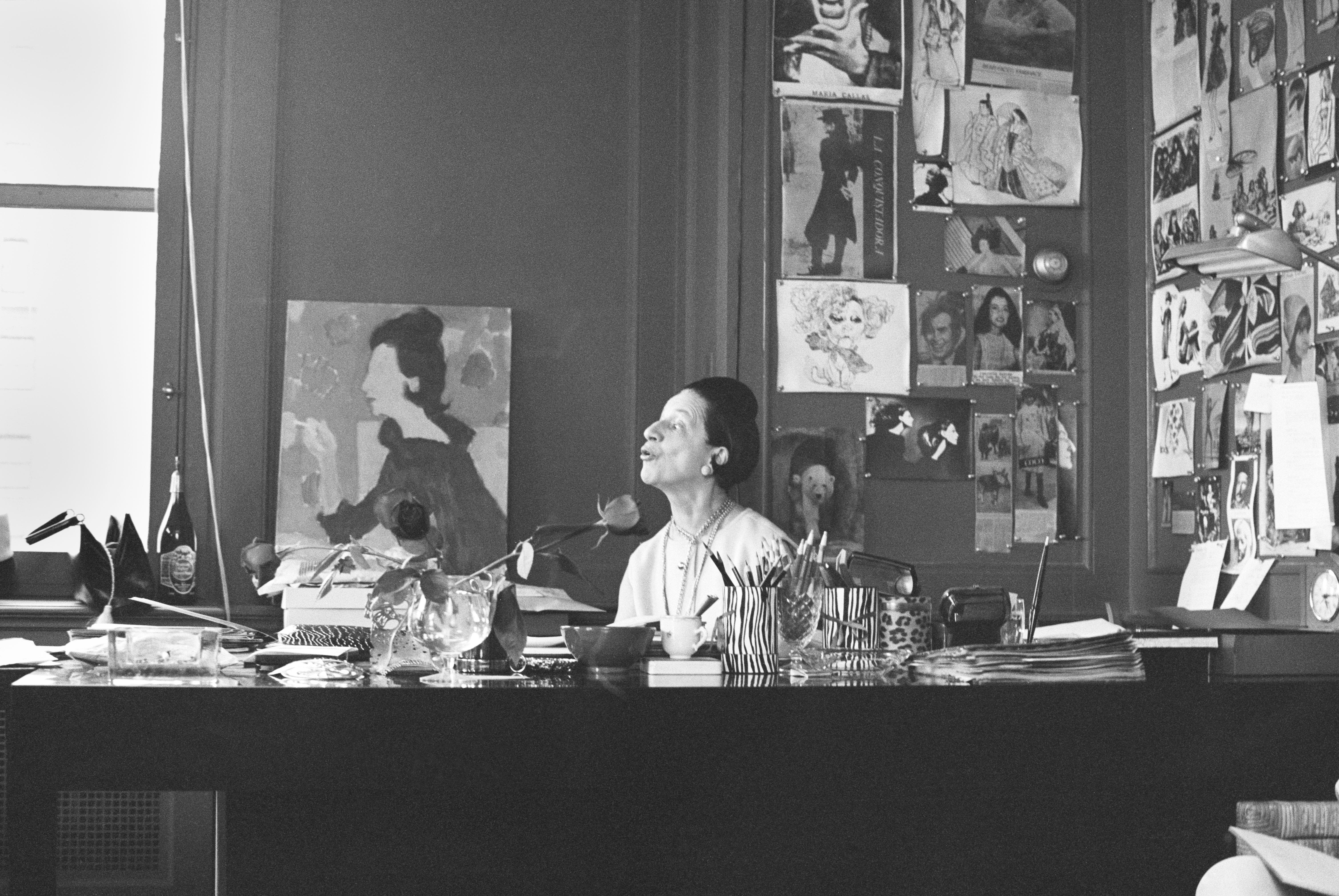 Vreeland in her office, 1950