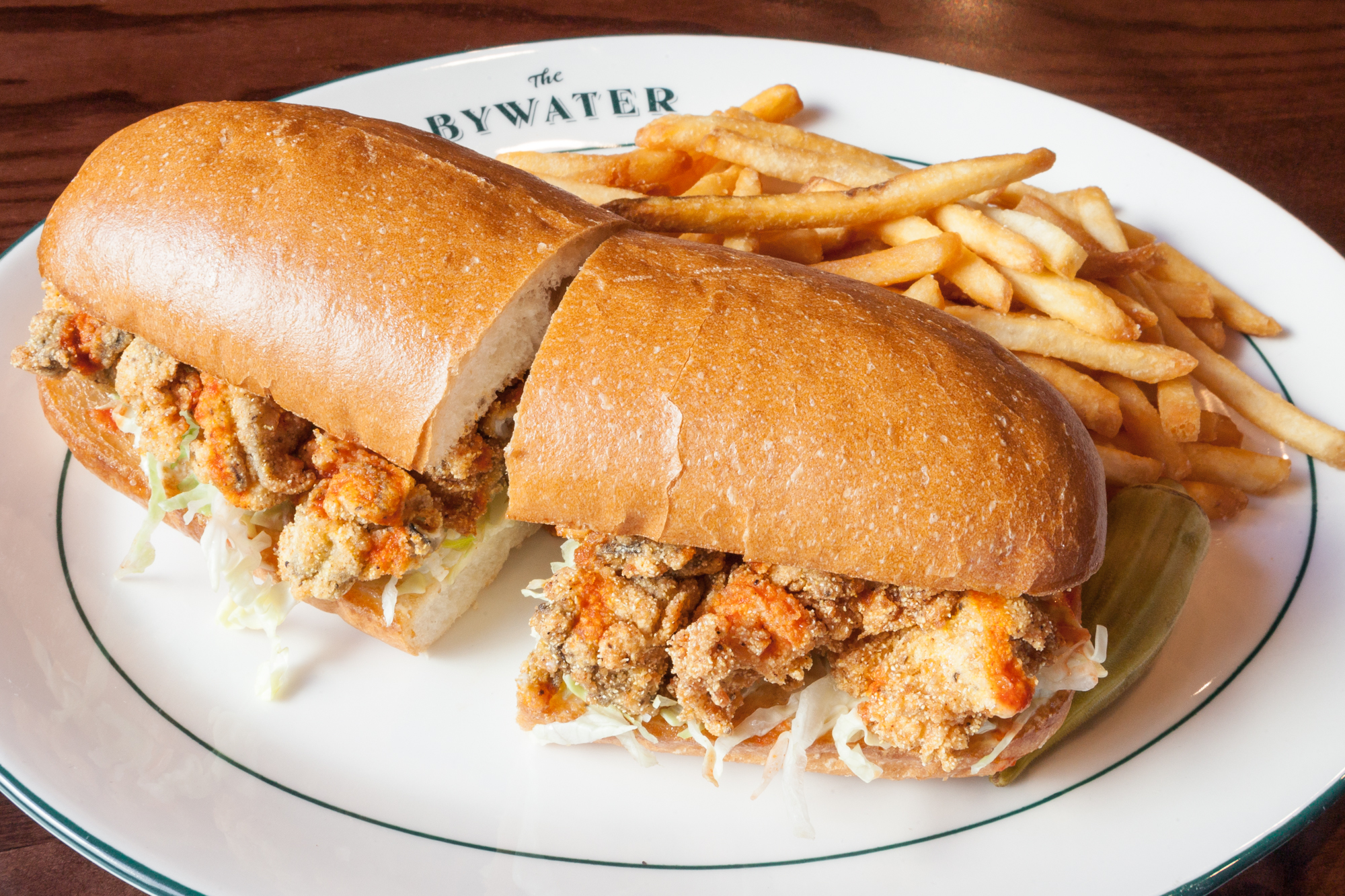 The oyster po'boy.