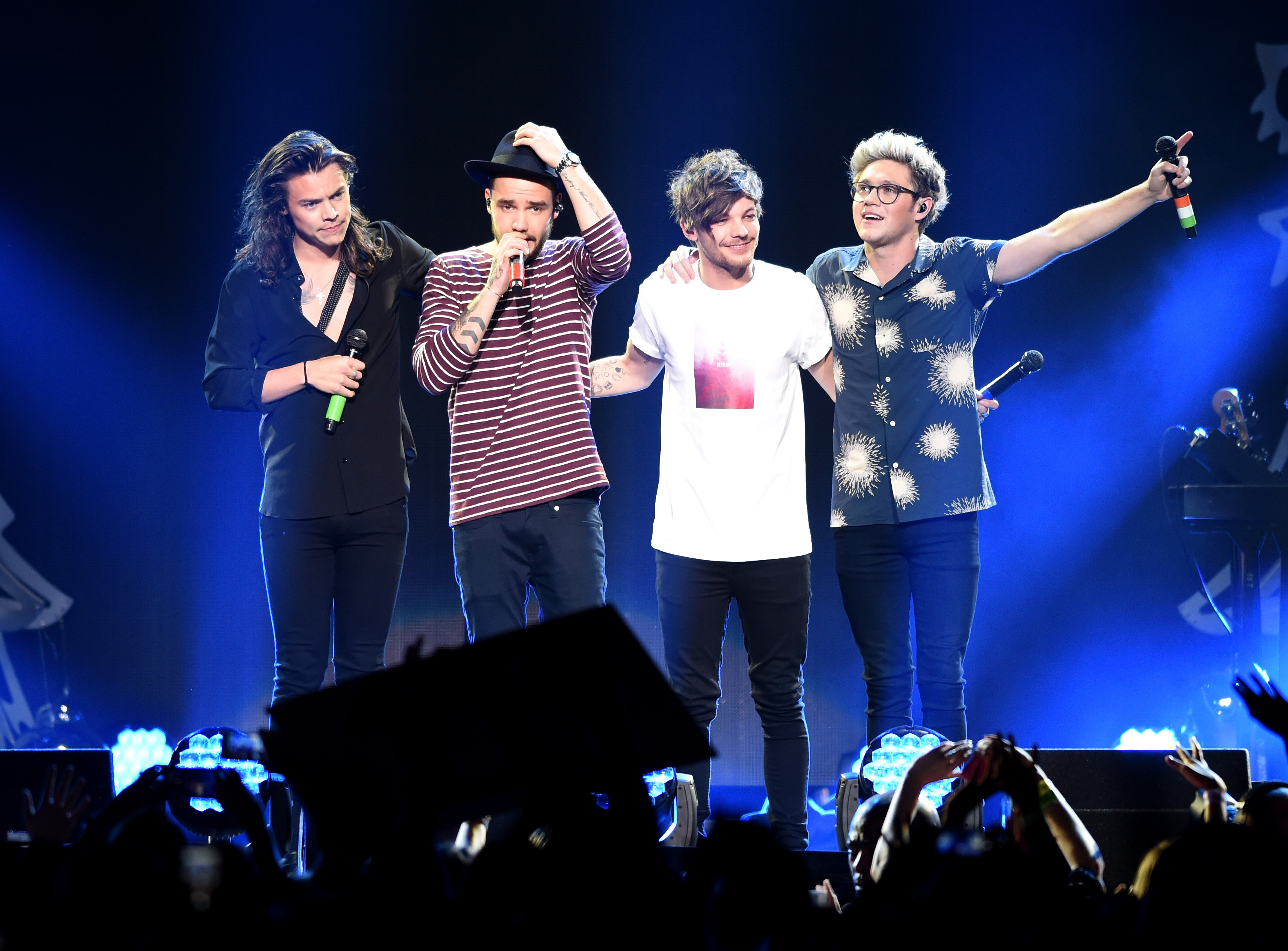 One Direction performing one of their last concerts ever at the 106.1 KISS FM Jingle Ball in December 2015.