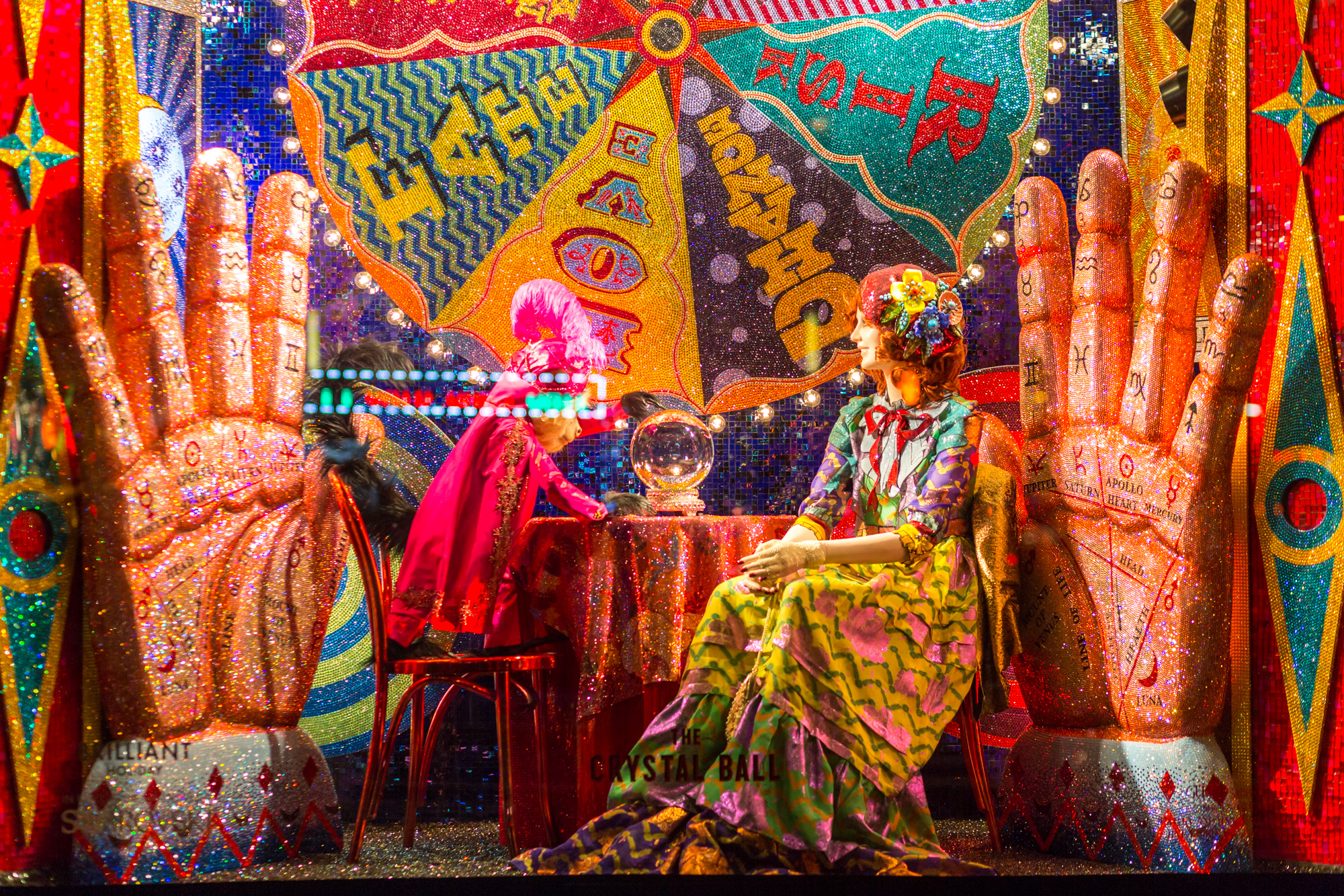 A window from Bergdorf's 2015 holiday display