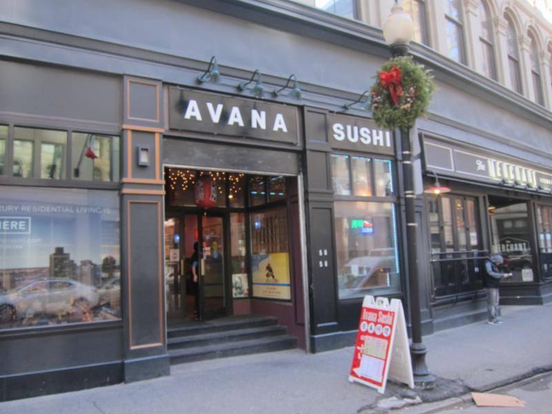 The new Avana Sushi