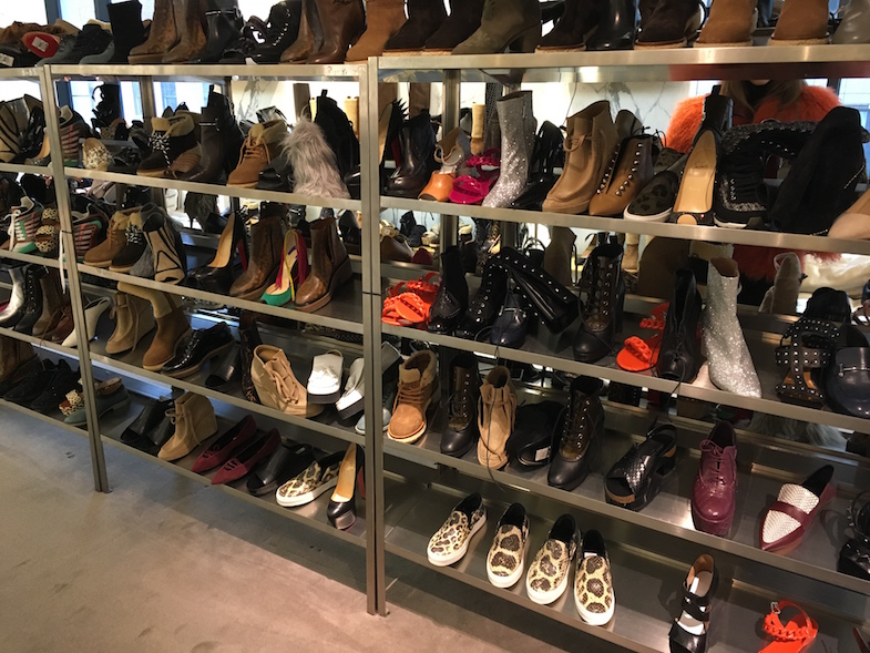 The shoe selection at Barneys