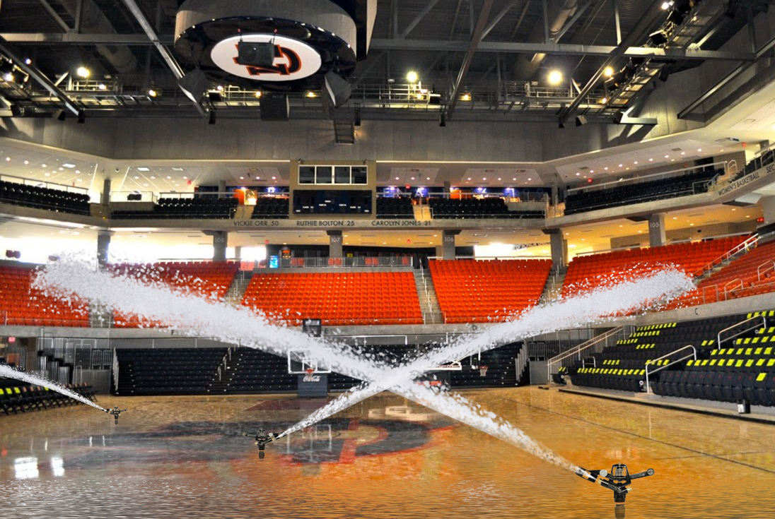 An unnamed source released this photo of Auburn Arena's sub-irrigation system this evening