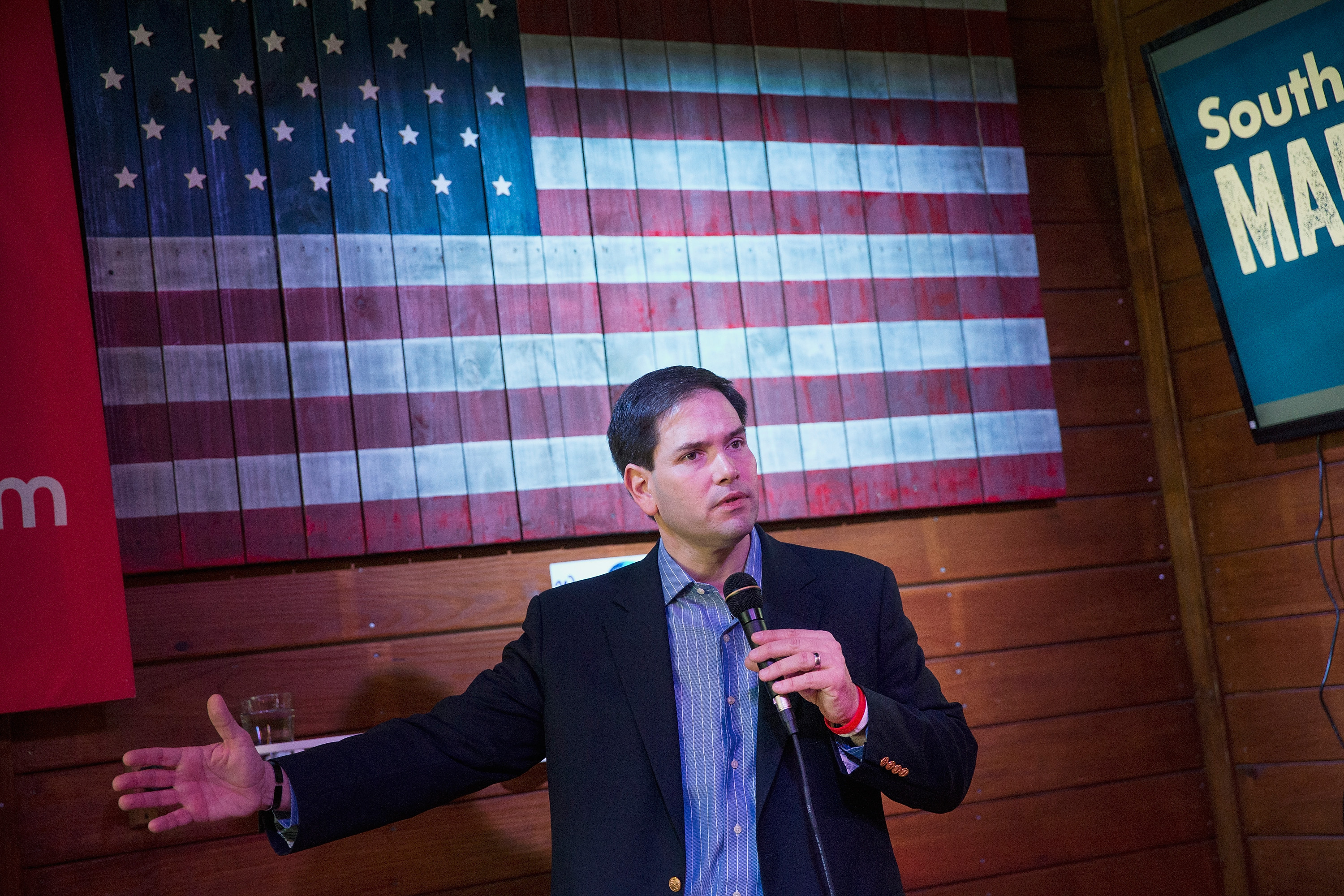 Marco Rubio at a campaign stop in South Carolina.