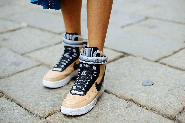 Riccardo Tisci X Nike shoes at fashion week in Milan in 2014