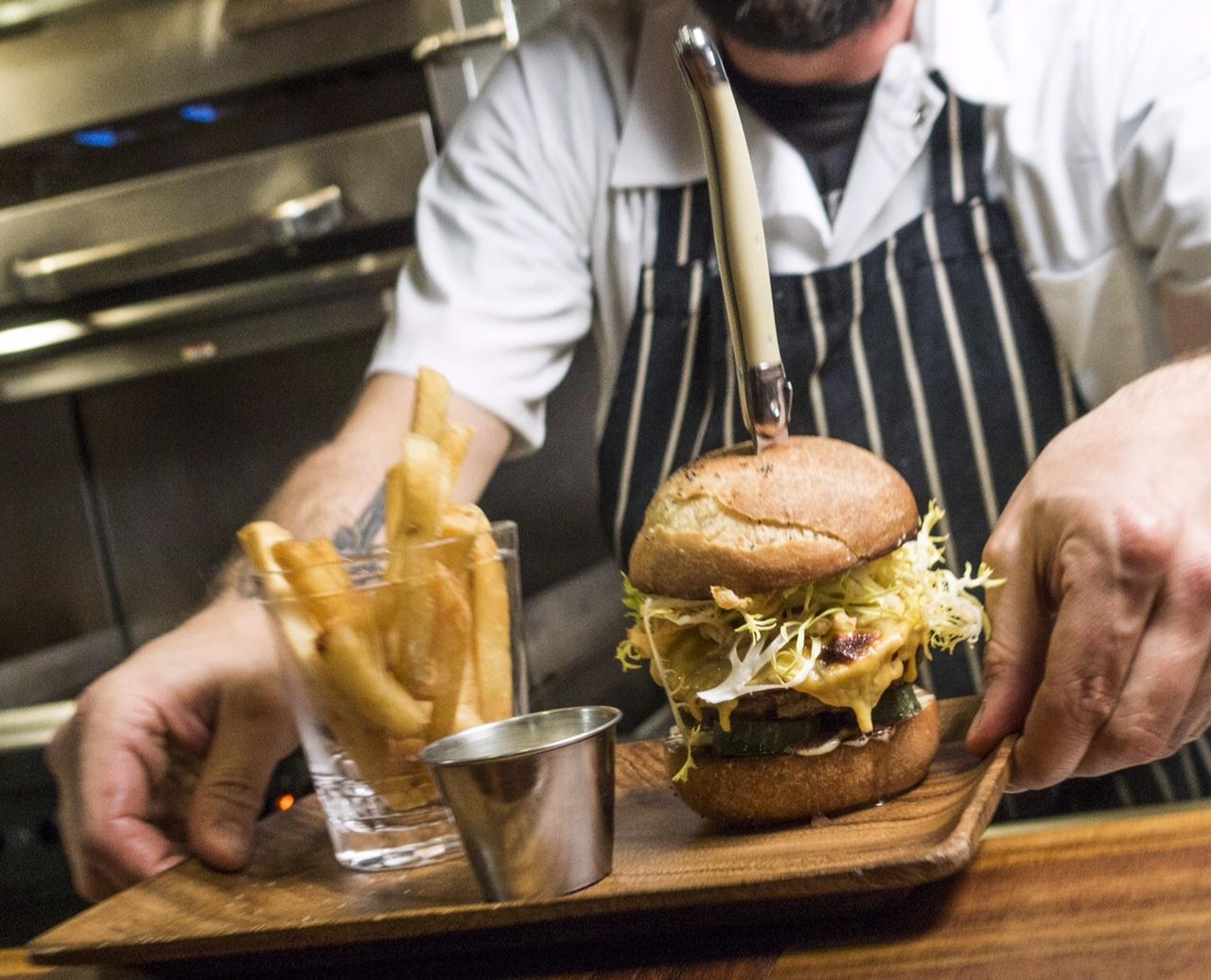 The new Huxley burger.