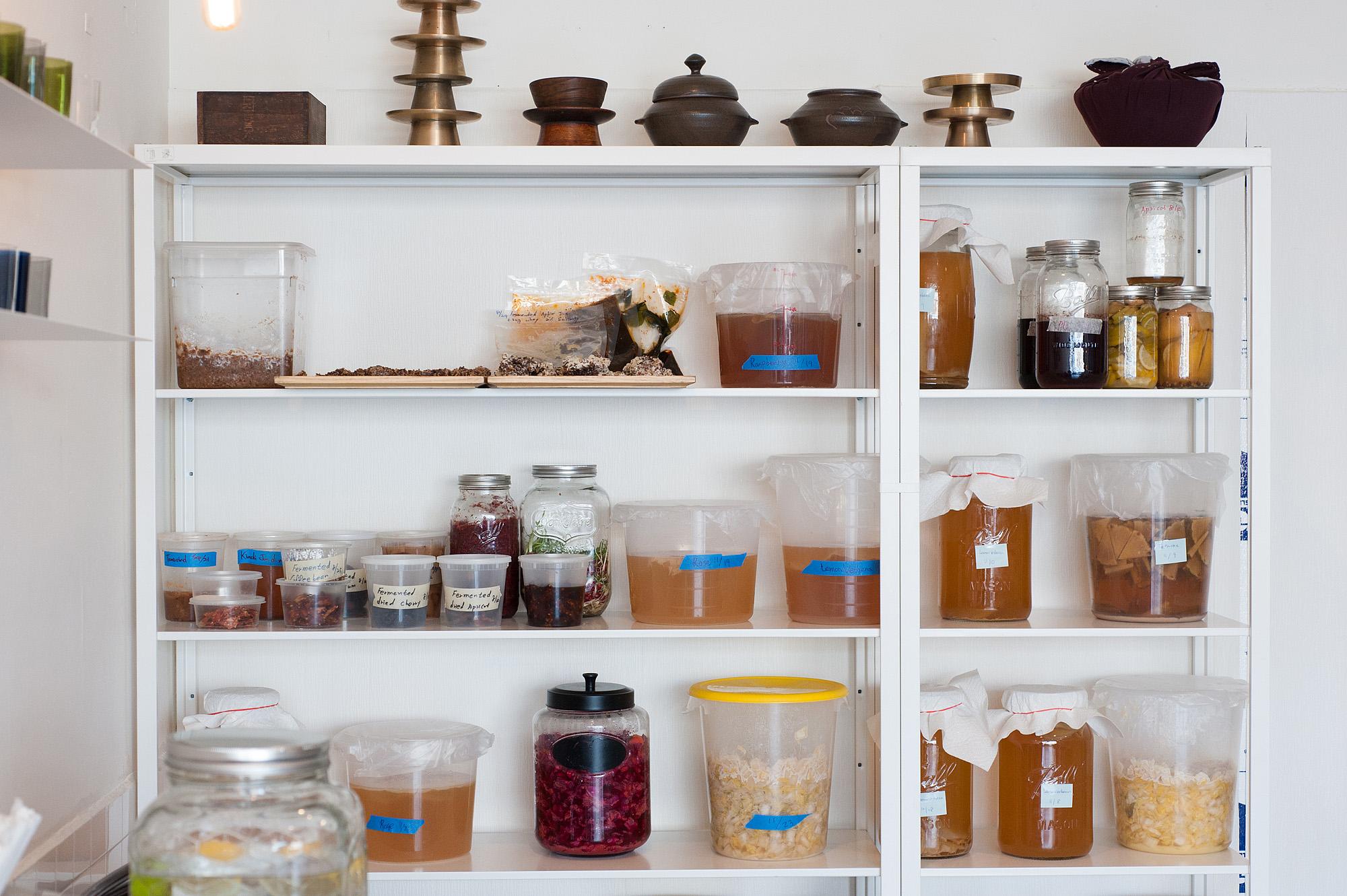 Baroo's fermentation shelves
