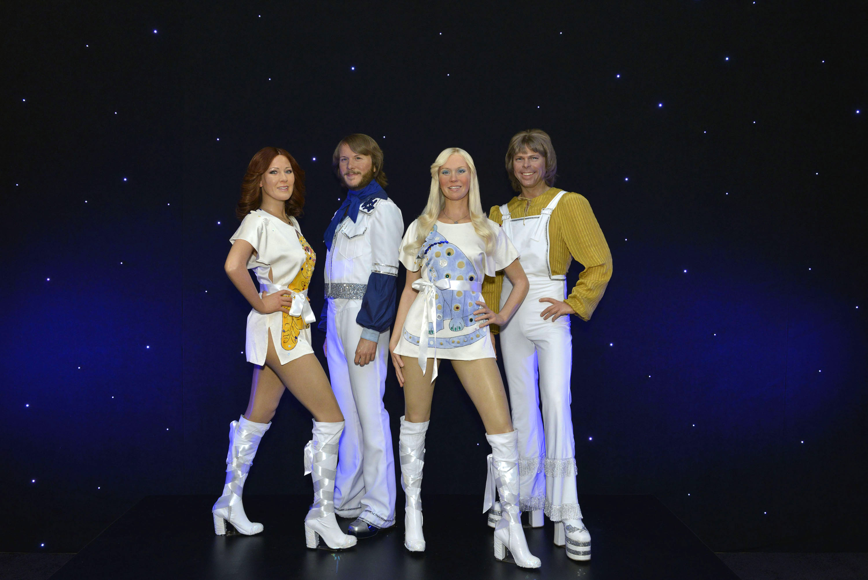 Some very impressive wax renditions of Abba.
