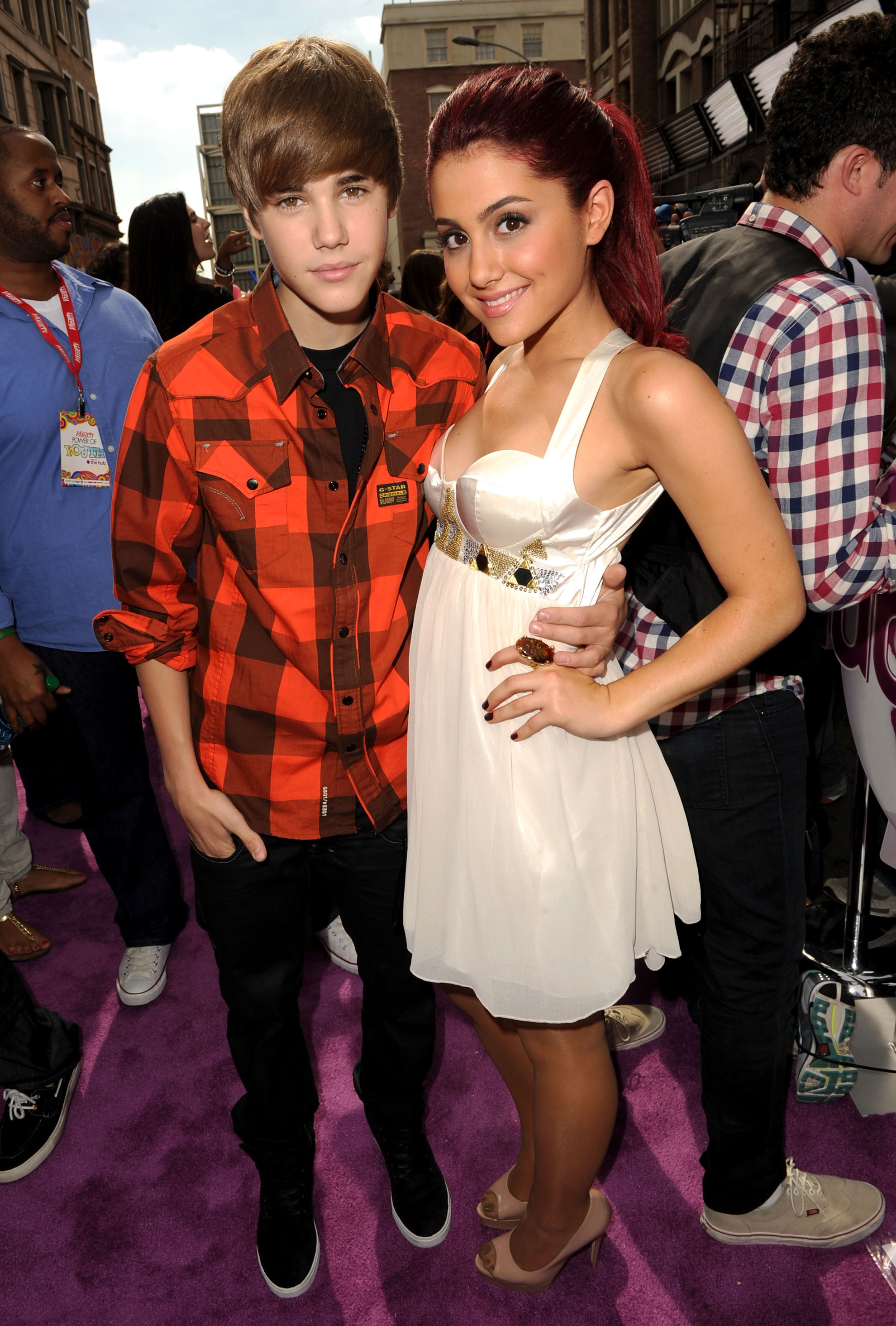 Biebs and Ariana in happier times.