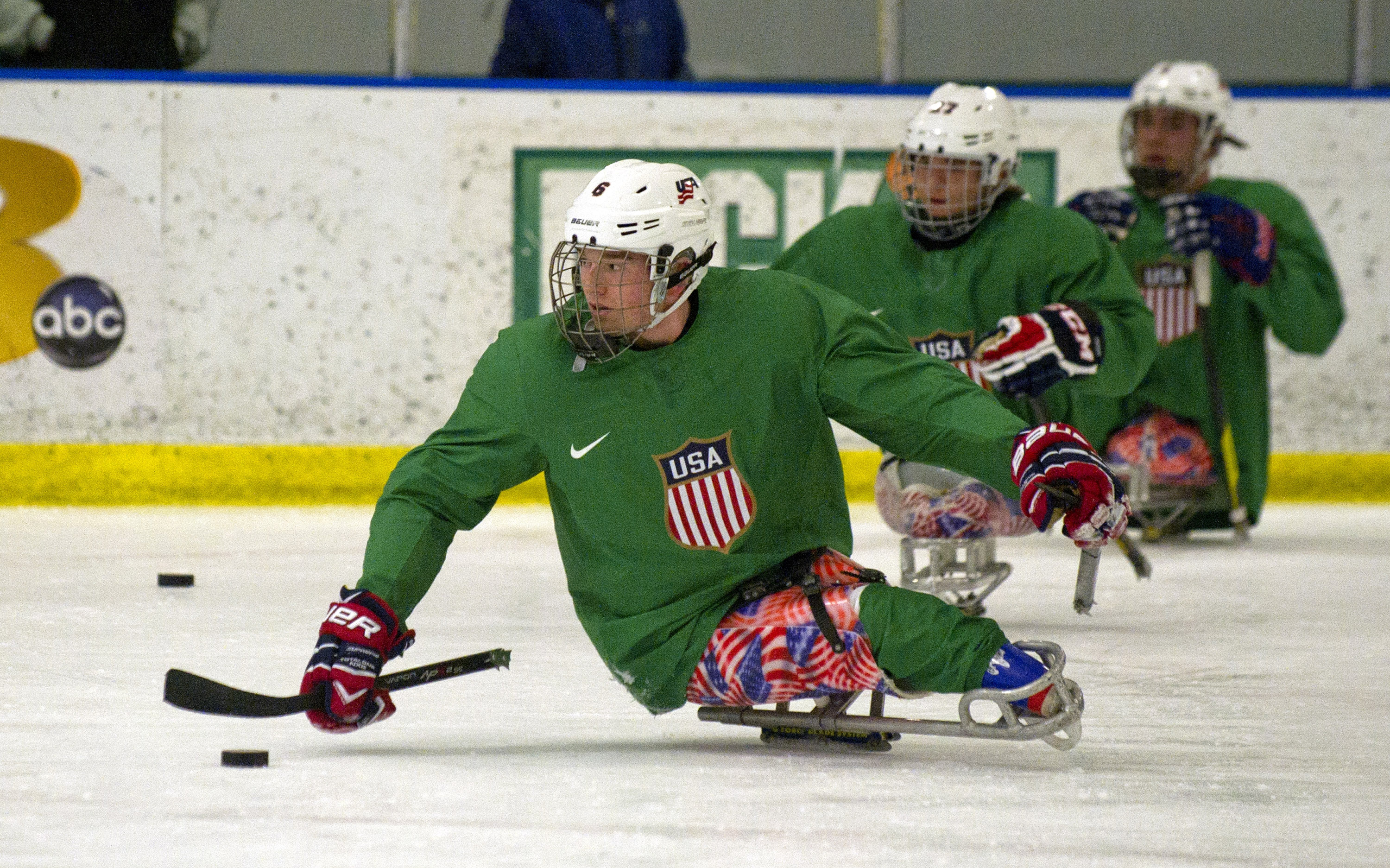 Declan Farmer is one of two Florida natives competing for Team USA in the World Sled Hockey Challenge in Bridgewater, N.S.