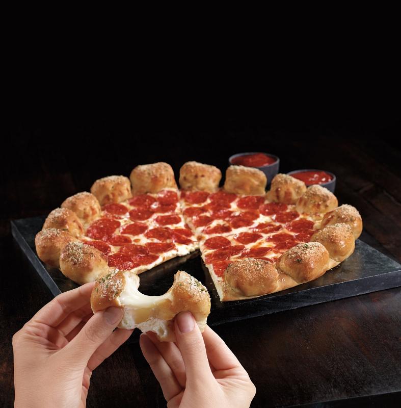 Pizza Hut's Stuffed Garlic Knots Pizza