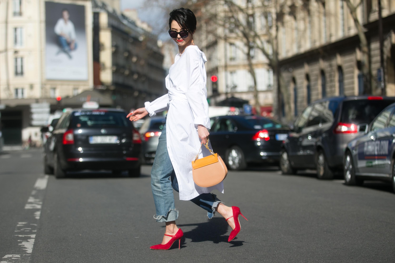Manolo Blahnik heels spotted at Paris Fashion Week in March