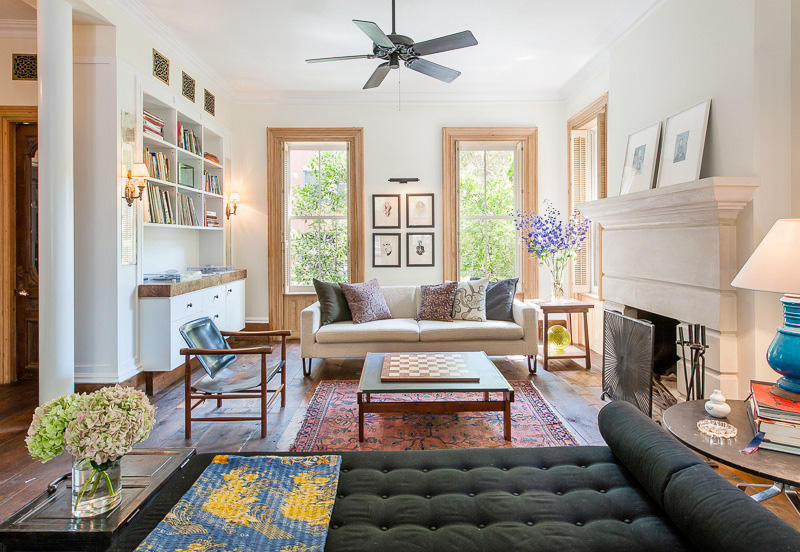 """A Brooklyn townhouse <a href=""""http://ny.curbed.com/archives/2014/09/26/michelle_williams_asks_75m_for_her_lovely_boerum_hill_house.php#more"""">formerly on the market</a> for $7.5 million."""