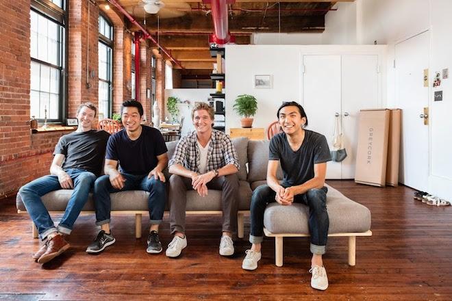 "Greycork founding team (from L to R): Jonah Willcox-Healey, Myung Chul ""Bruce"" Kim, John Humphrey, Alec Babala—Photo courtesy of Greycork"