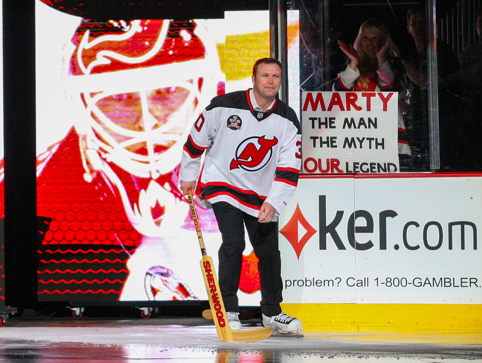 Martin Brodeur is indeed our legend.  He will have his number retired on February 9.